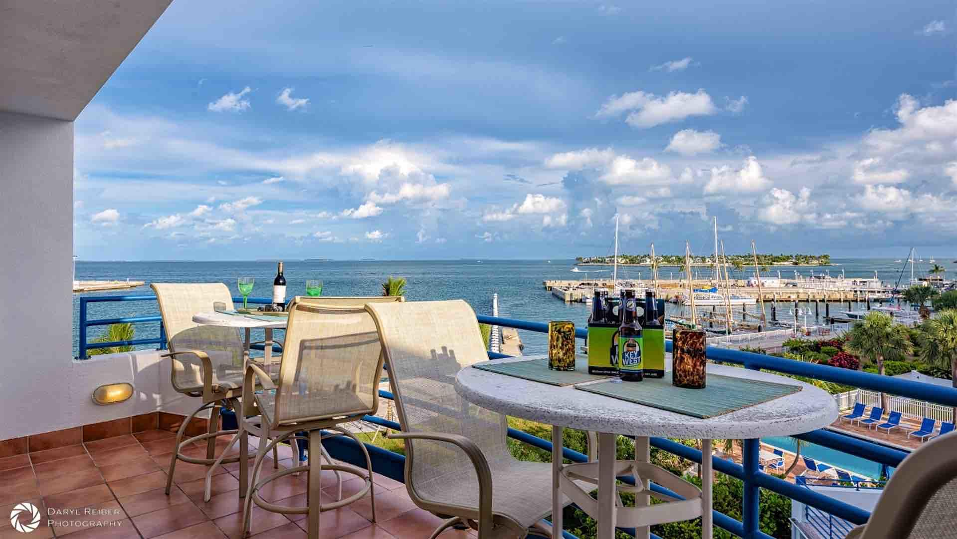 The views of the harbor from your spacious balcony are simply stunning...