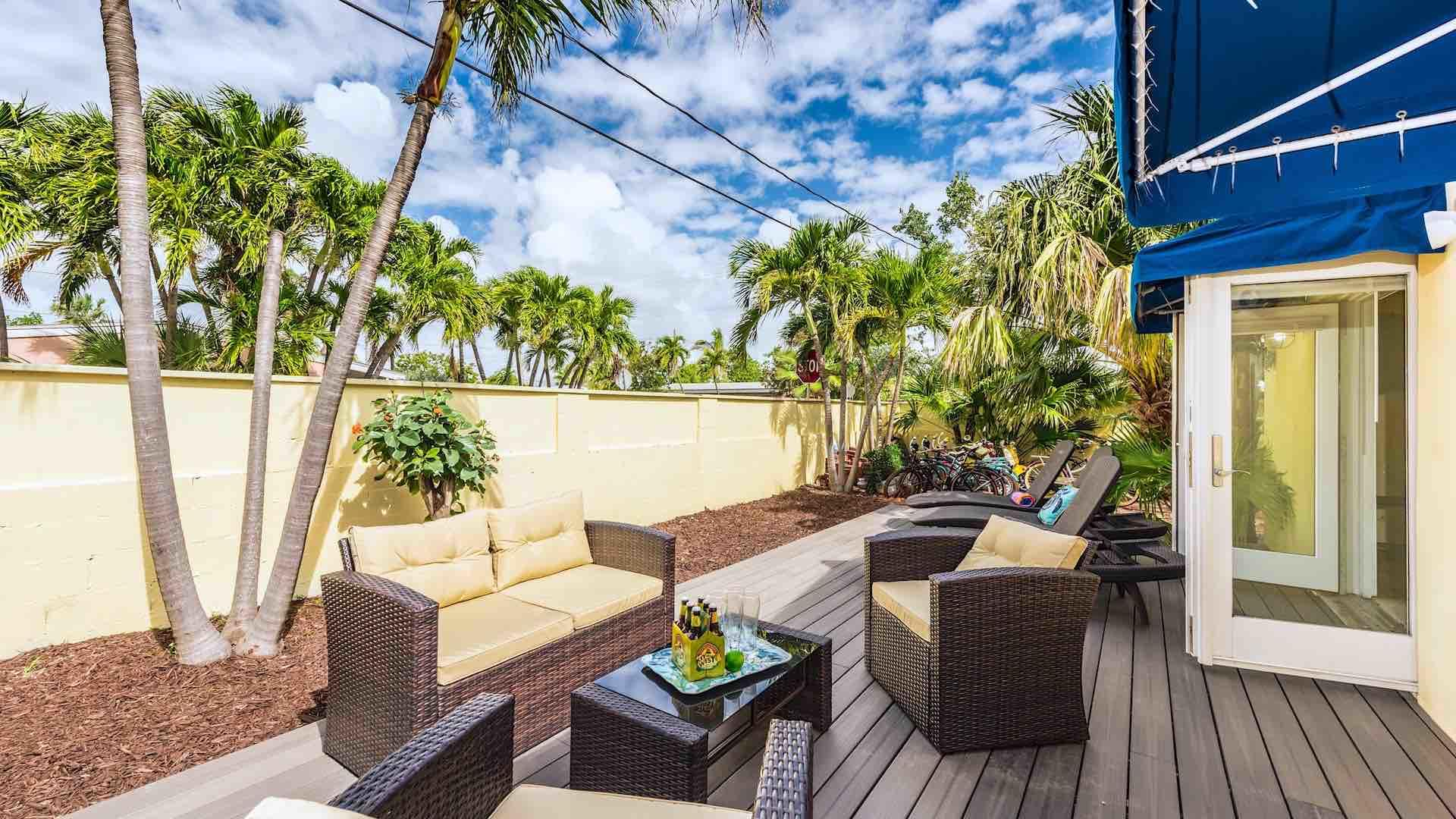 Enjoy your morning coffee on the sun deck...