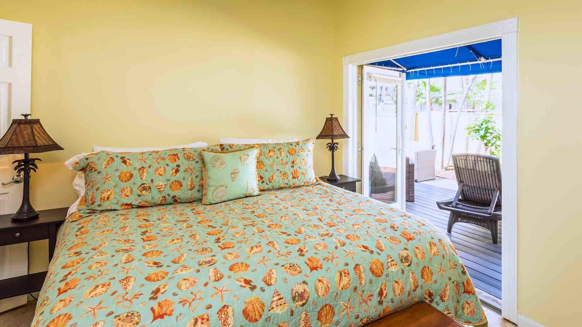 The first master suite opens up to the sun deck located on the side of the house...