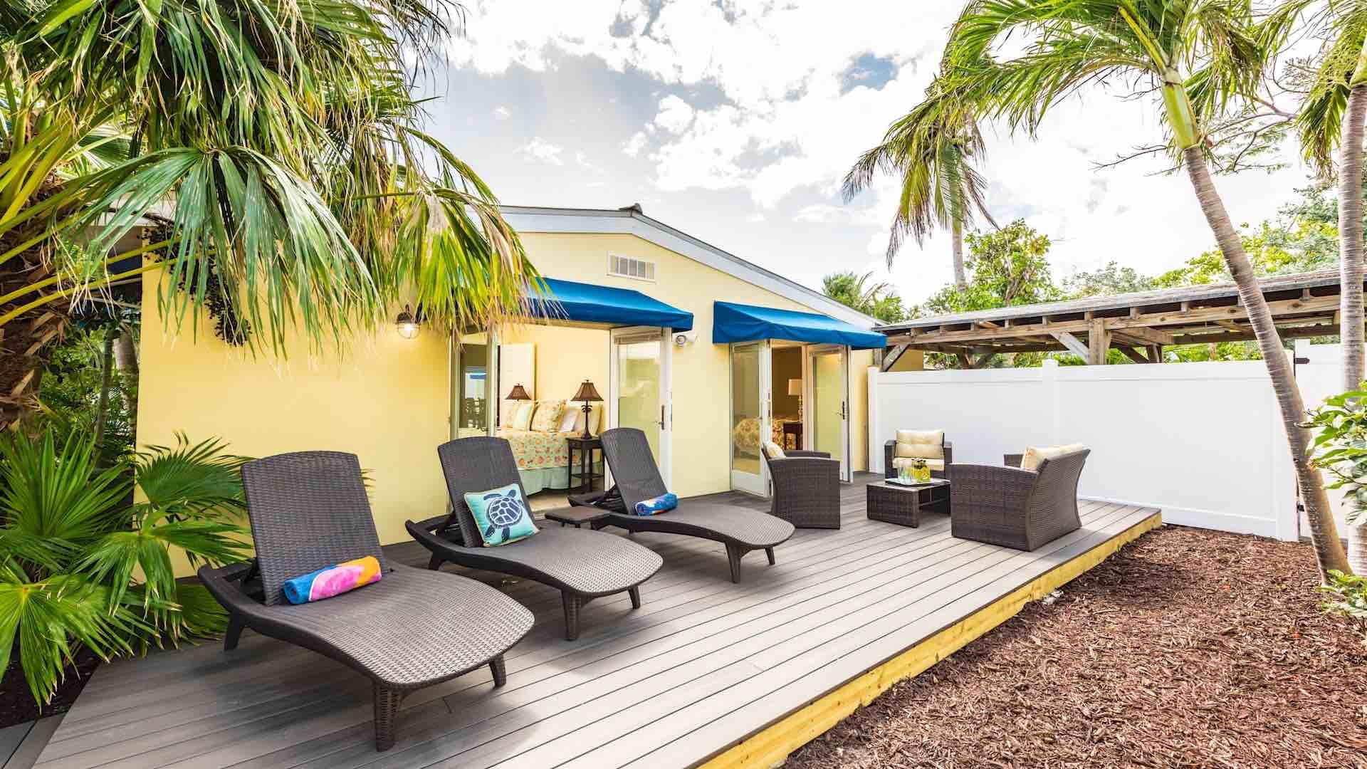 The sun deck has chaise lounges for laying out or relaxing...