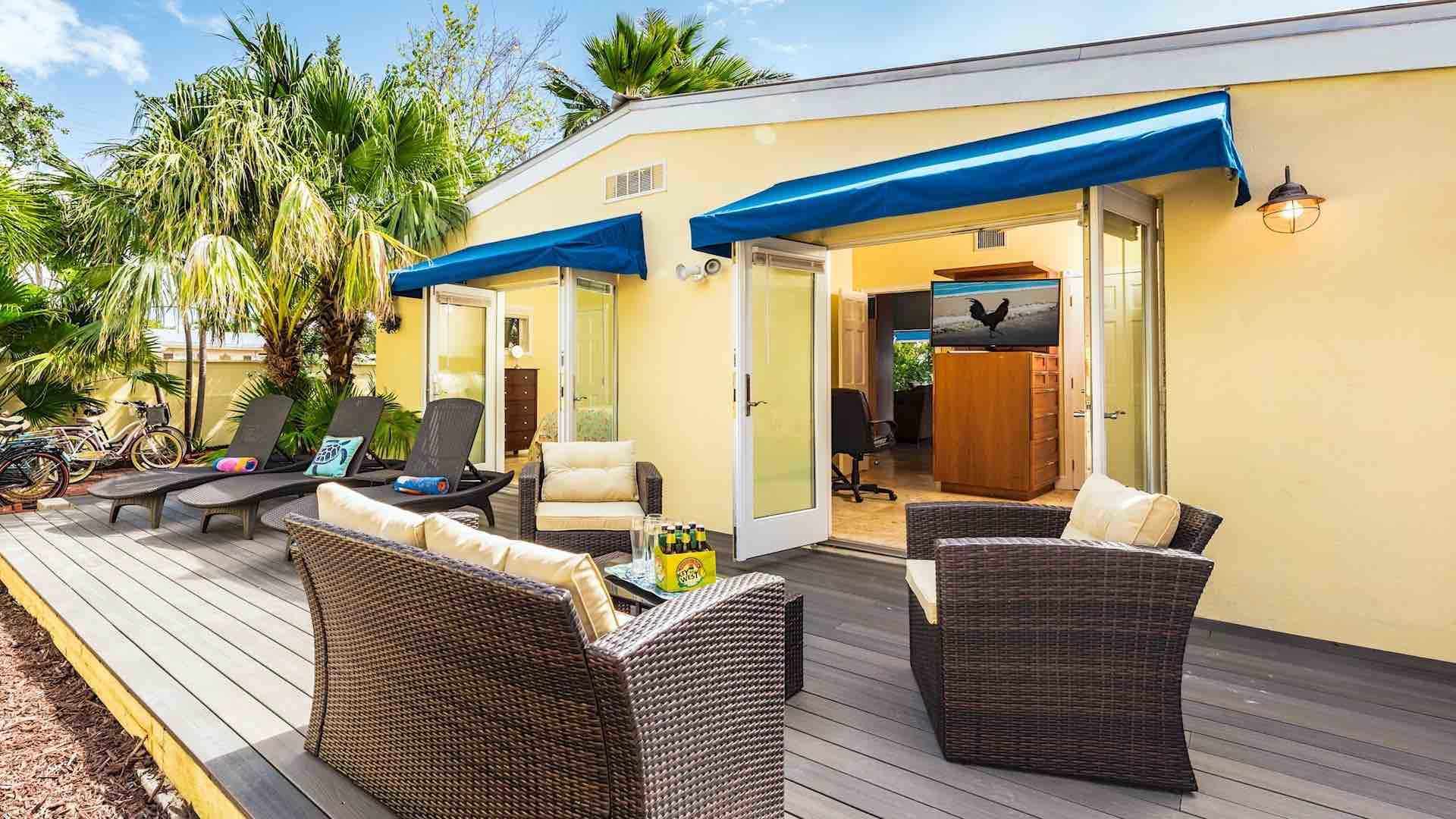 The sun deck is surrounded by a six foot high wall that provides supreme privacy...