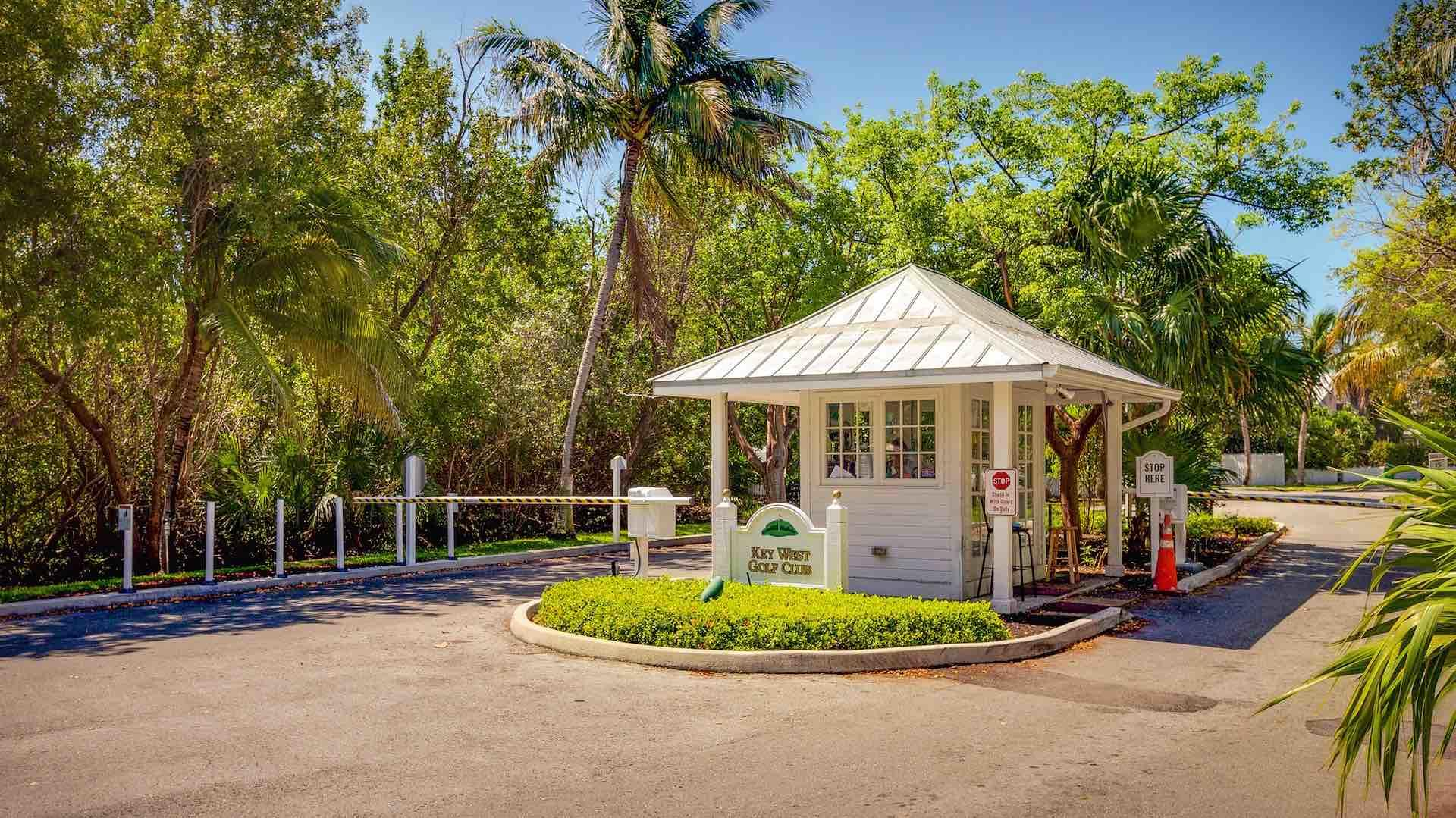 The gated community at the Key West Golf Club has 24 hour security...