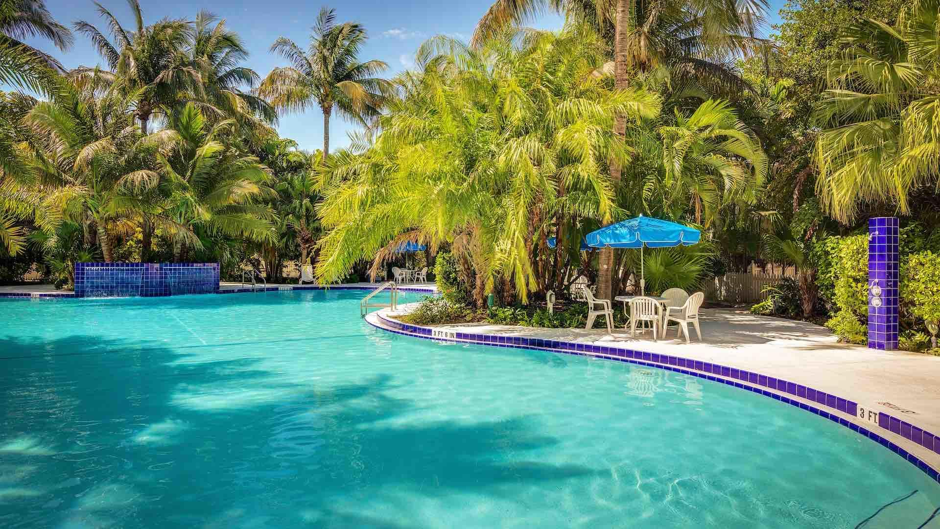 Reserved for residents & guests, the pool is one of the largest in Key West...