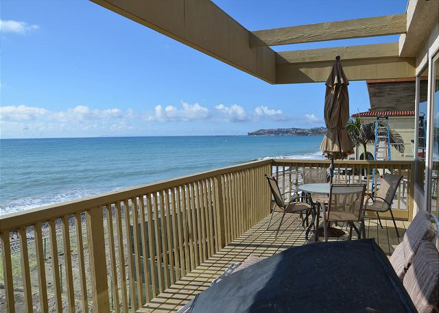 Enjoy expansive ocean views from your private deck on the second story of this duplex.