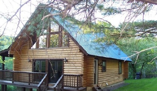 Creek Log Cabin Rental Middleburgh 3 Bedroom Place To Stay On