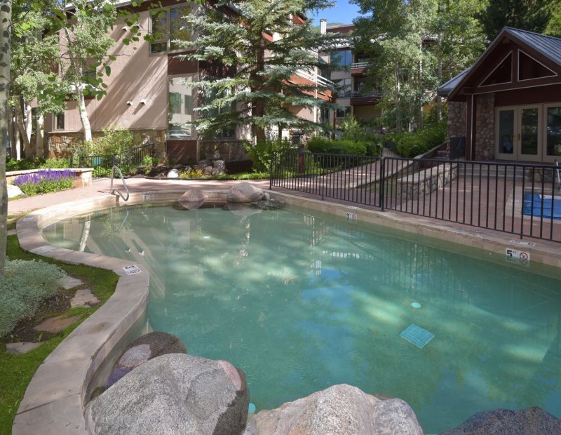 4 bedroom Vail vacation rental with pool next to lifts