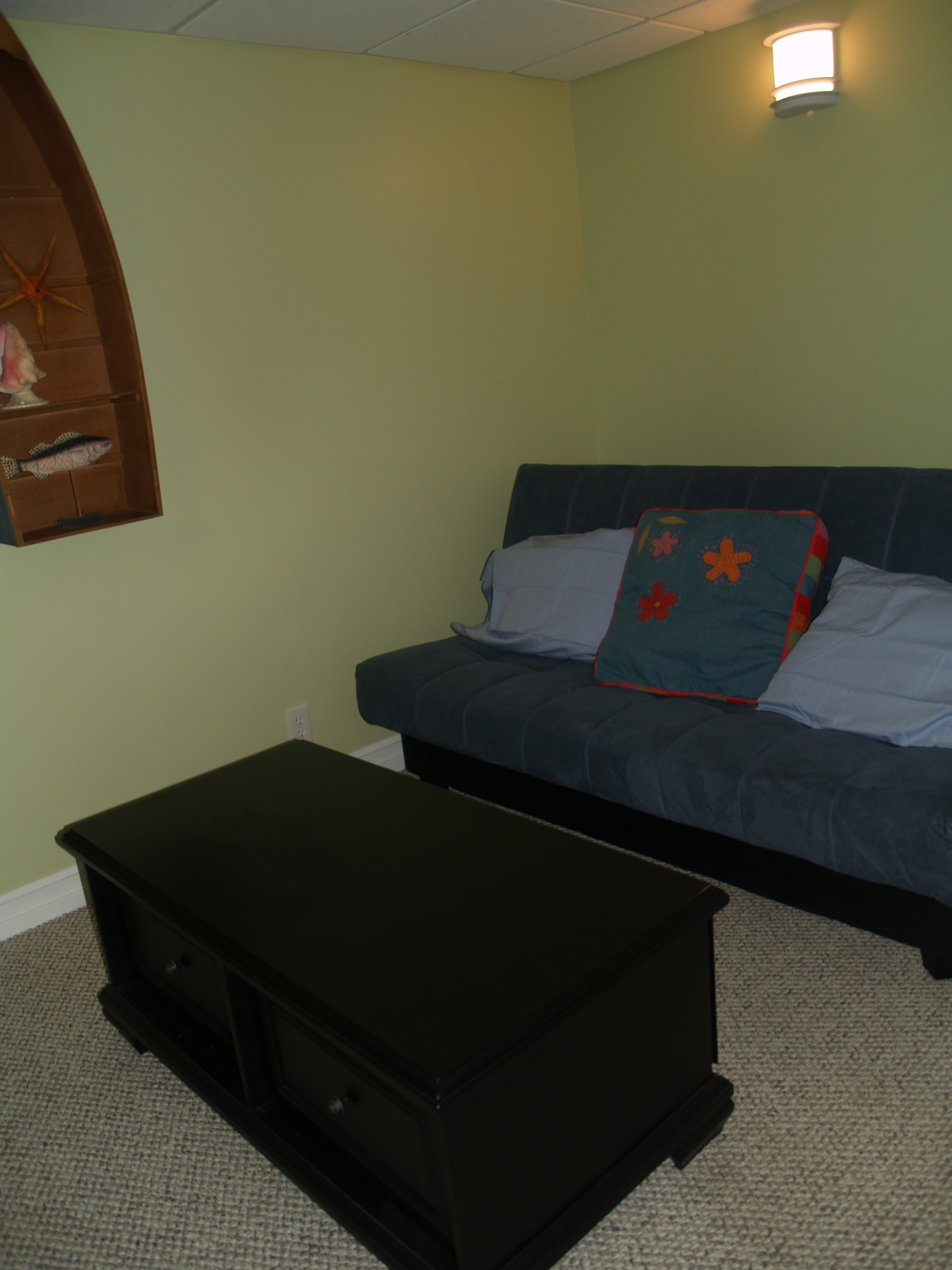 Room with Futon and Flat Screen TV