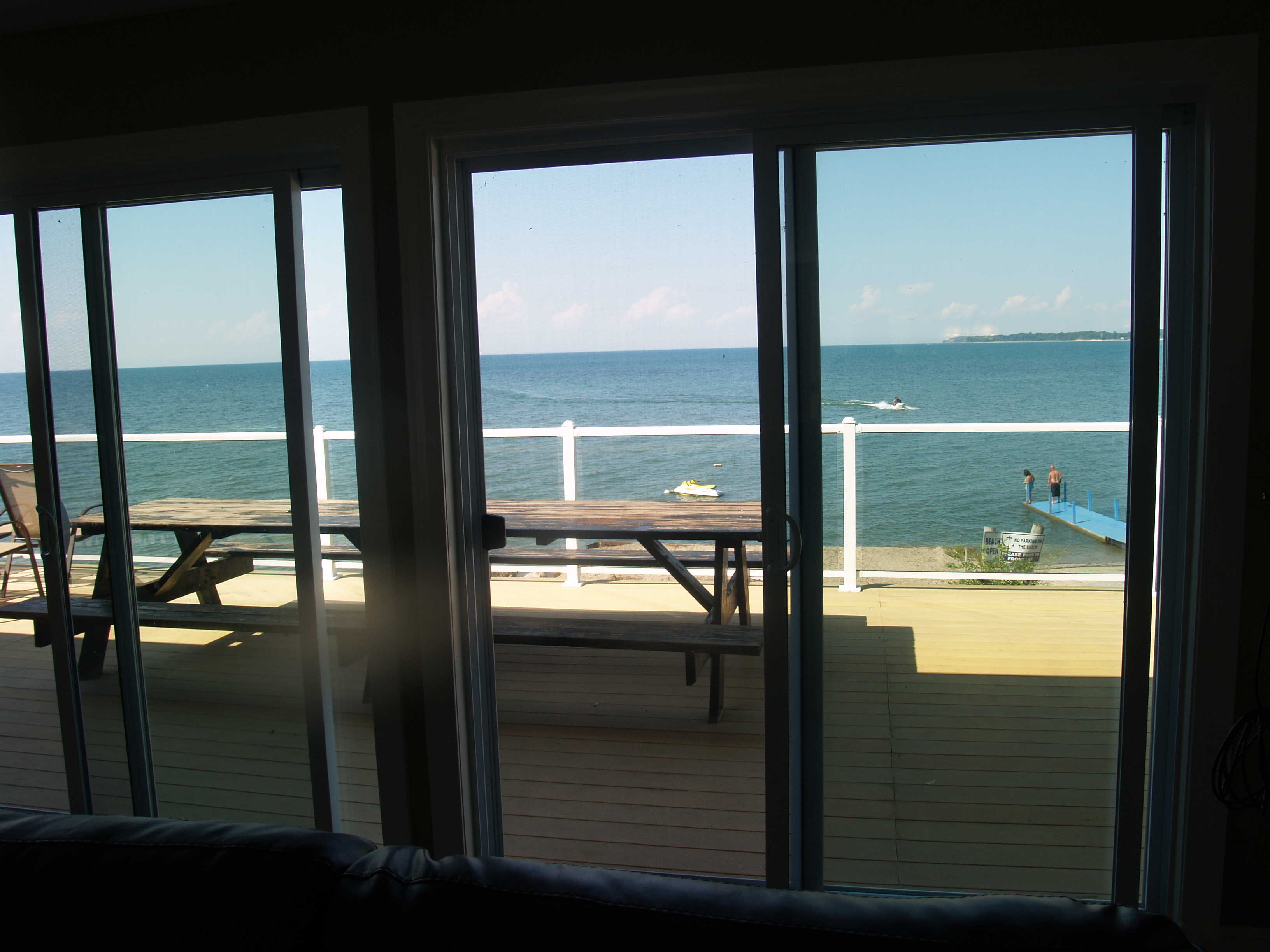 View looking out to Deck