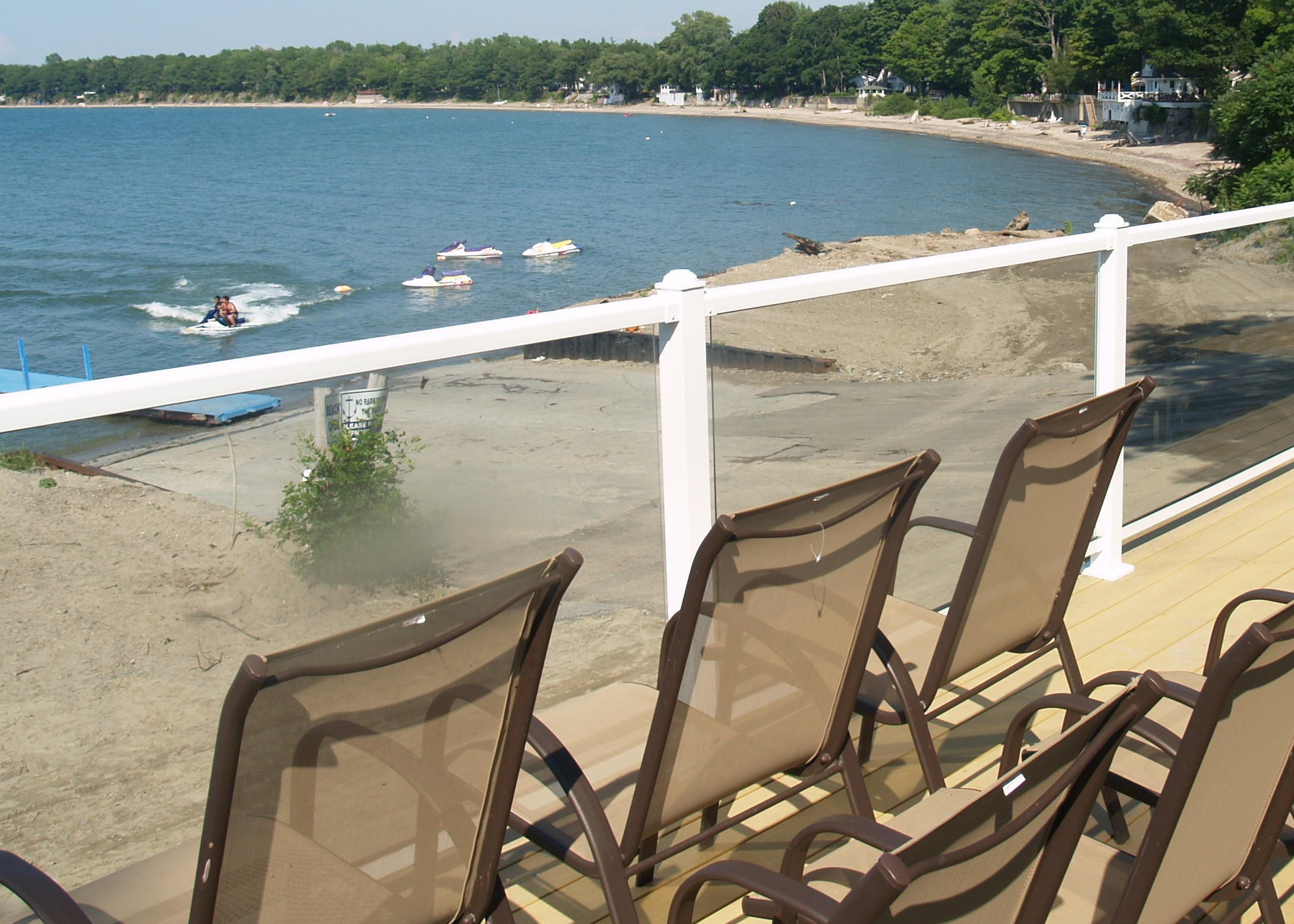 View of Lake and Beach from Deck