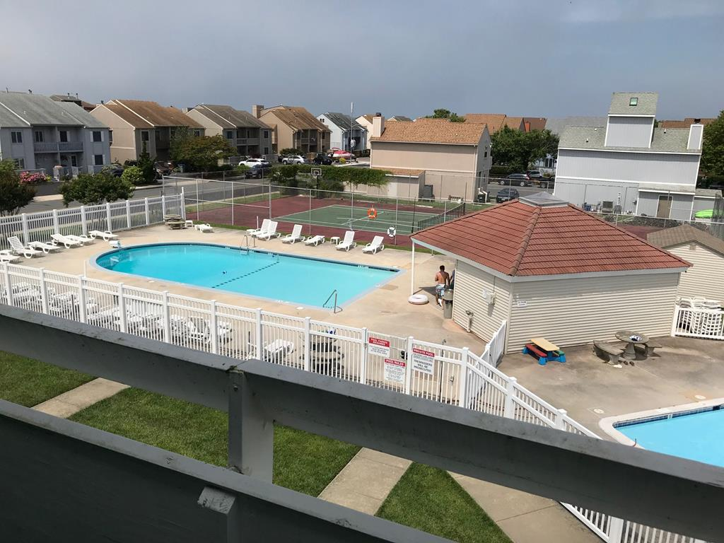 View of pool from condo
