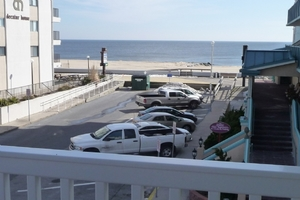 Beach and Boardwalk View from Balcony
