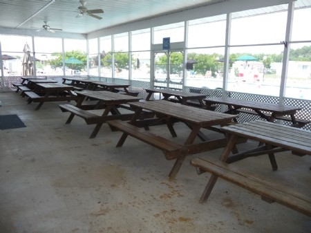 Enclosed Patio at Club House