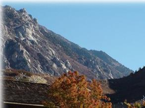 view of Little Cottonwood Canyon