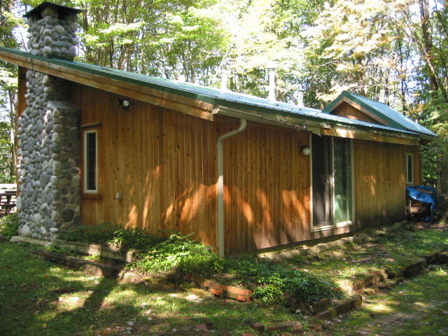 Exterior of the cabin