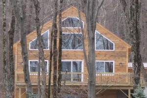 Newly built home in Jay Peak
