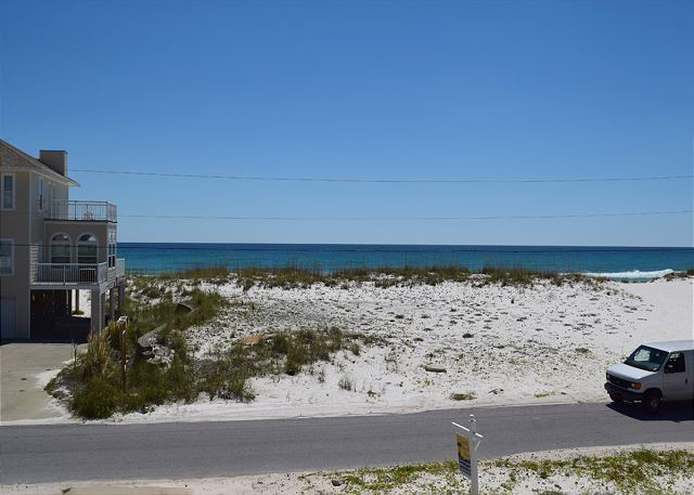 The beach and gulf is just a few steps from the home.