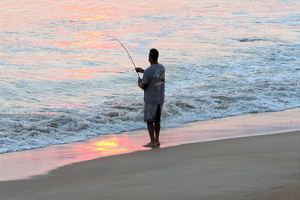 Plenty of fishing out here on the beach!