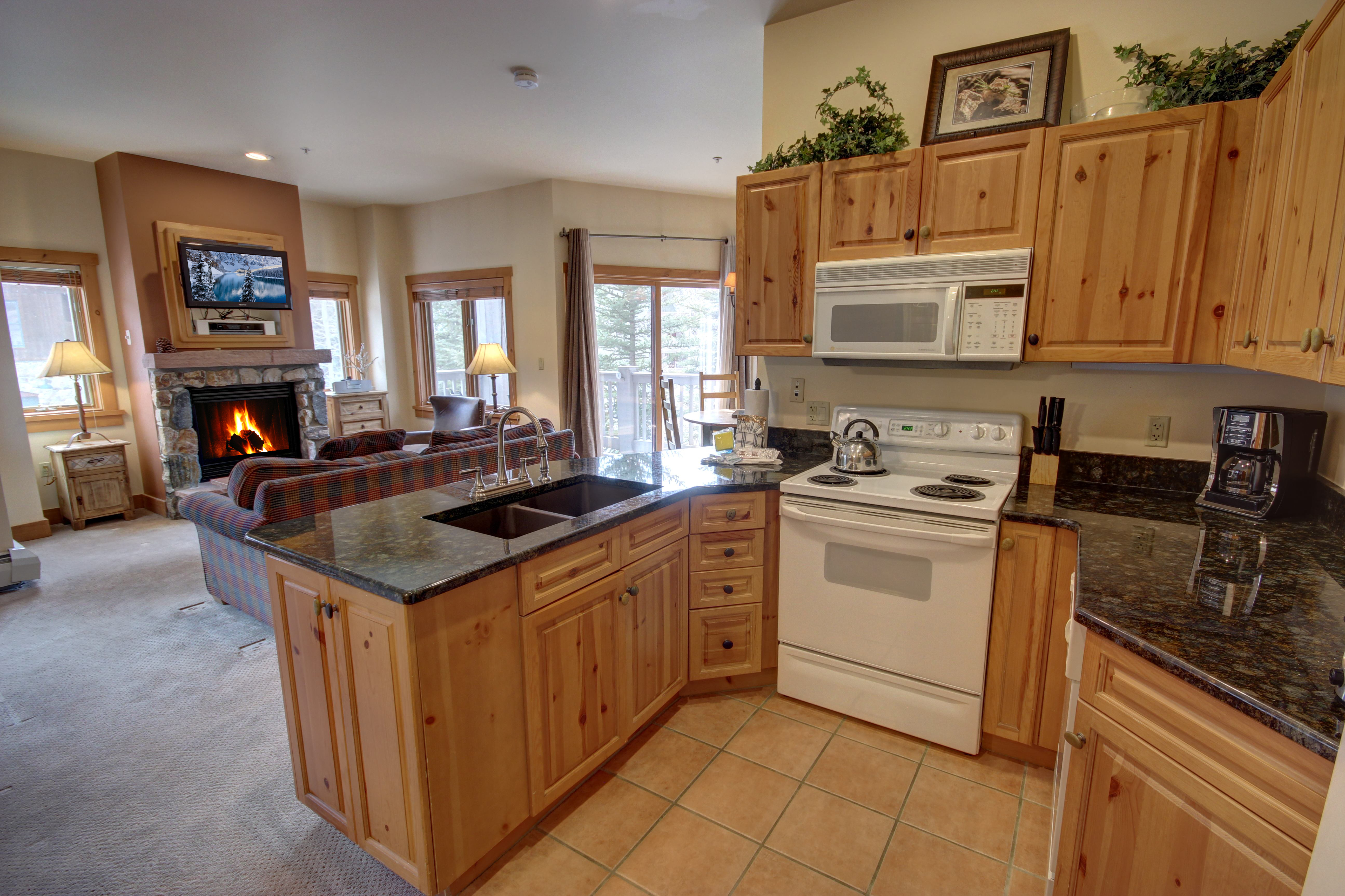 Kitchen perfect for making all your favorite foods