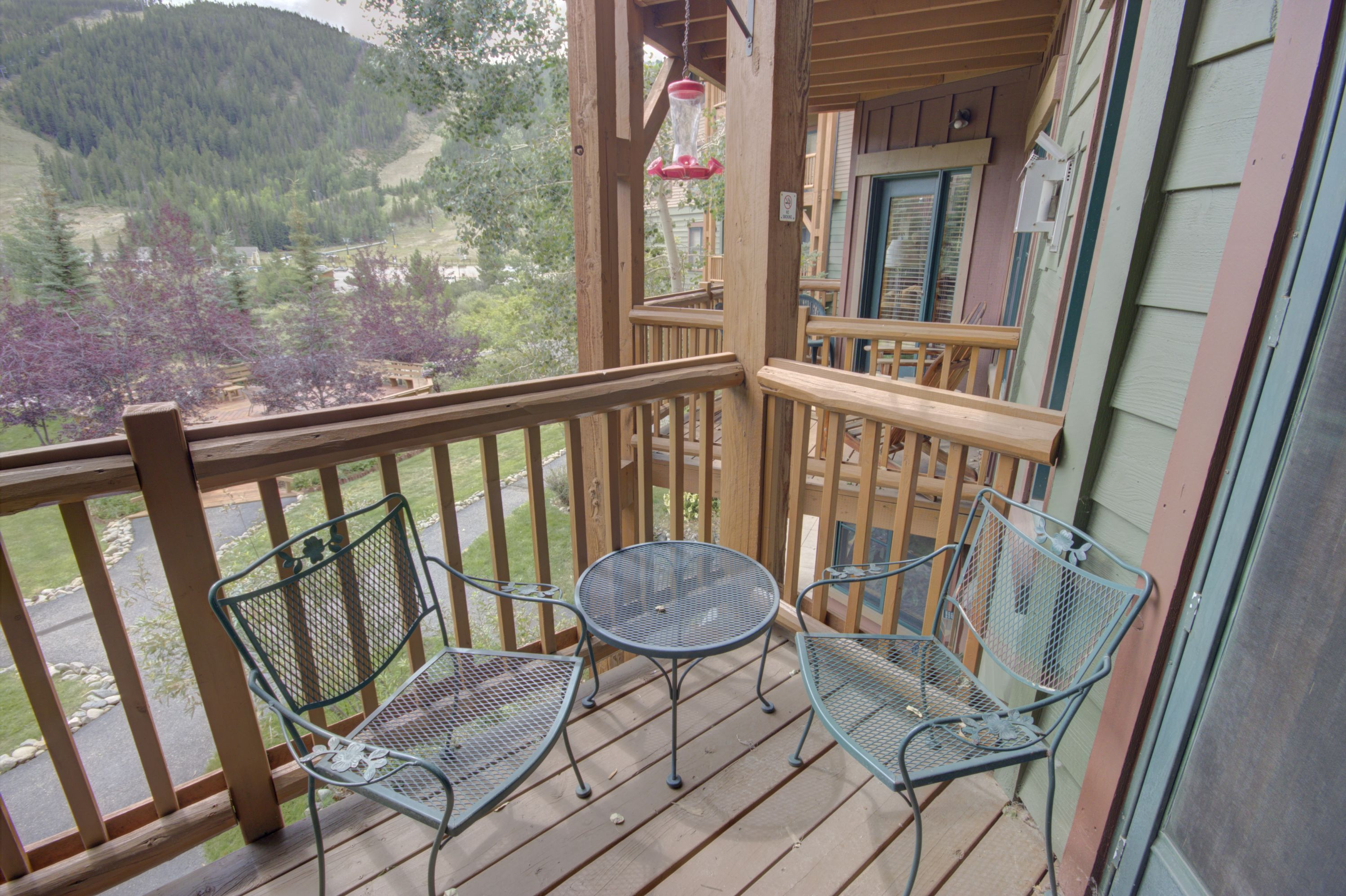 Balcony with outdoor furniture perfect for relaxing with friends and family