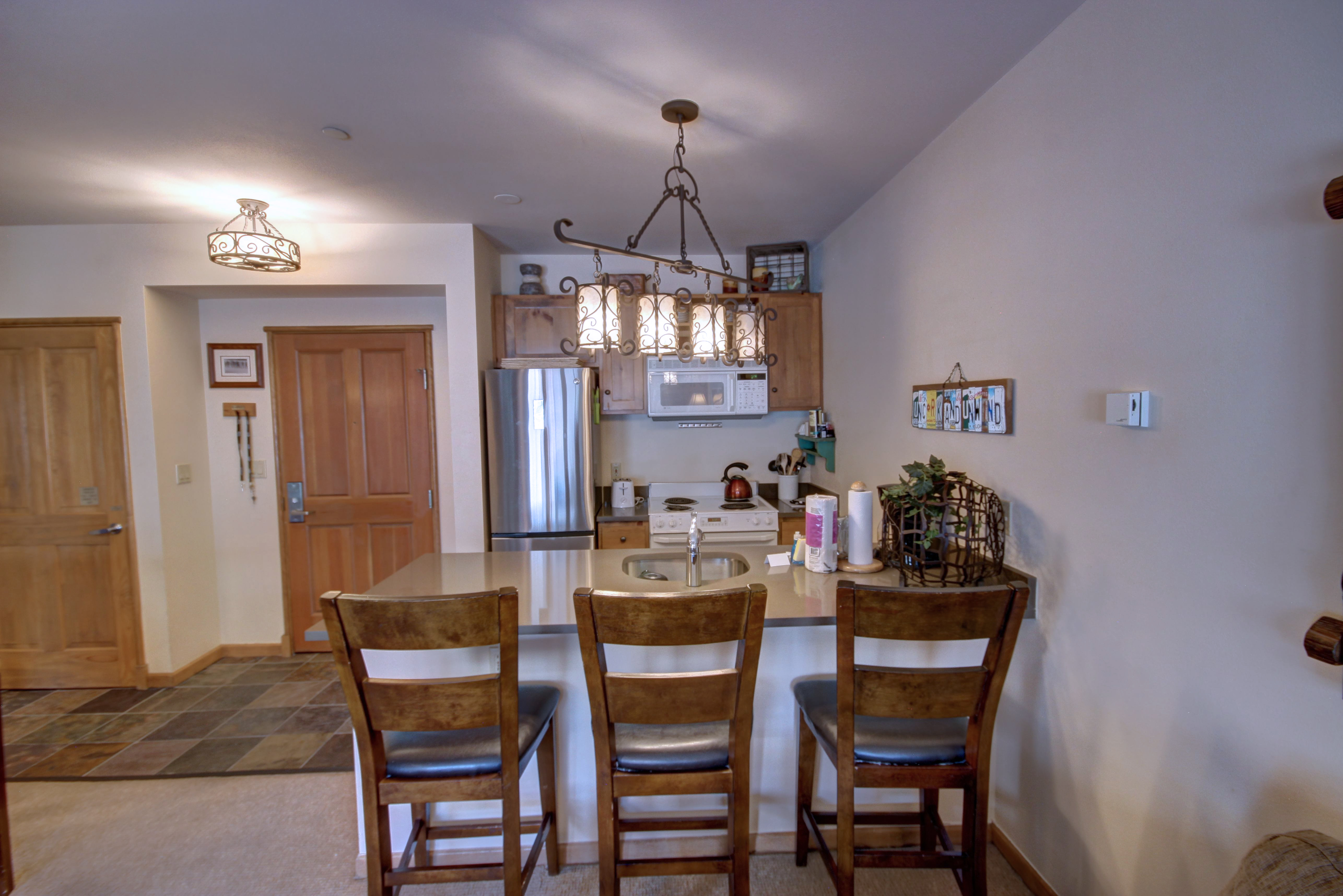 Kitchen with a breakfast bar