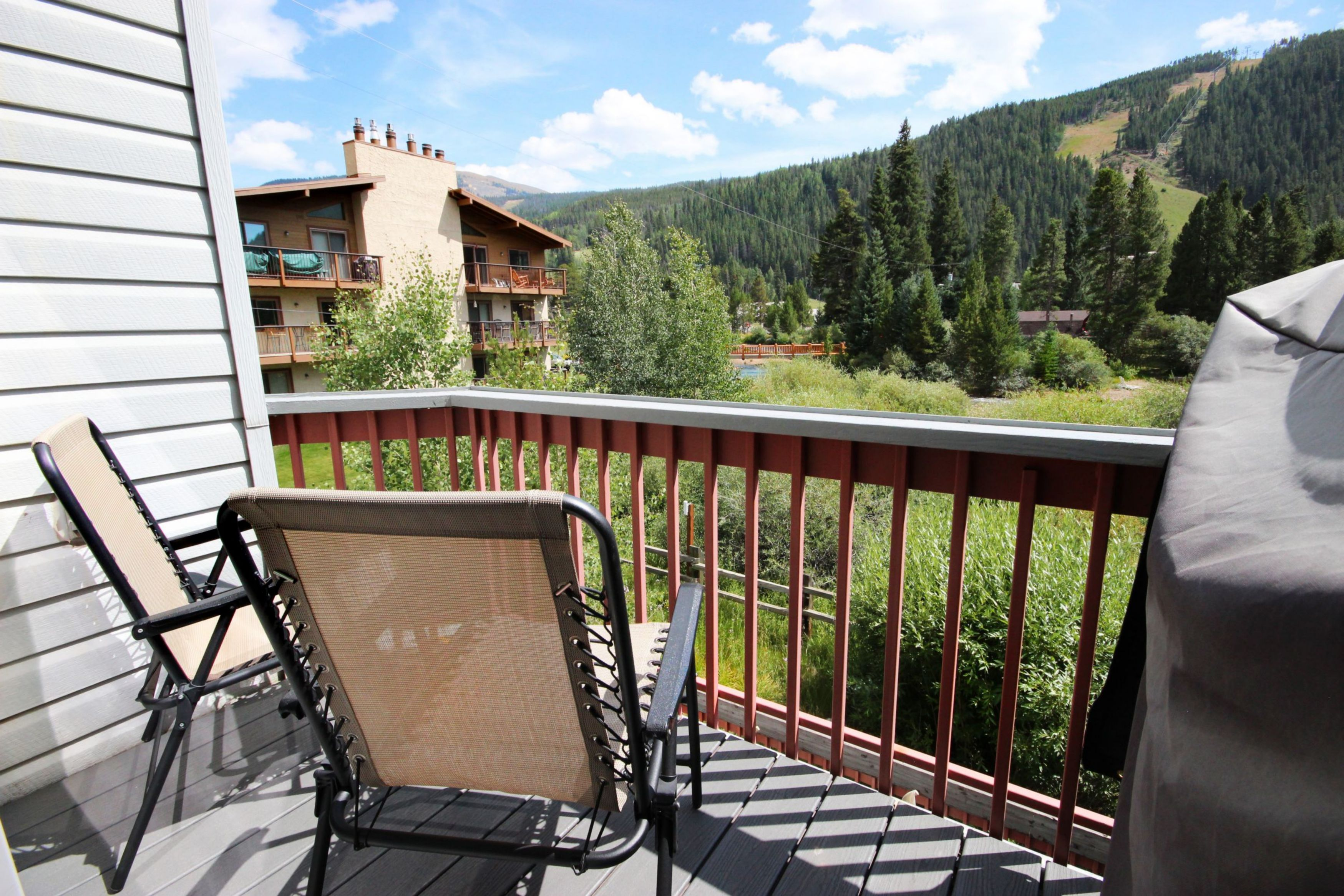 Relax and enjoy the great outdoors from the balcony