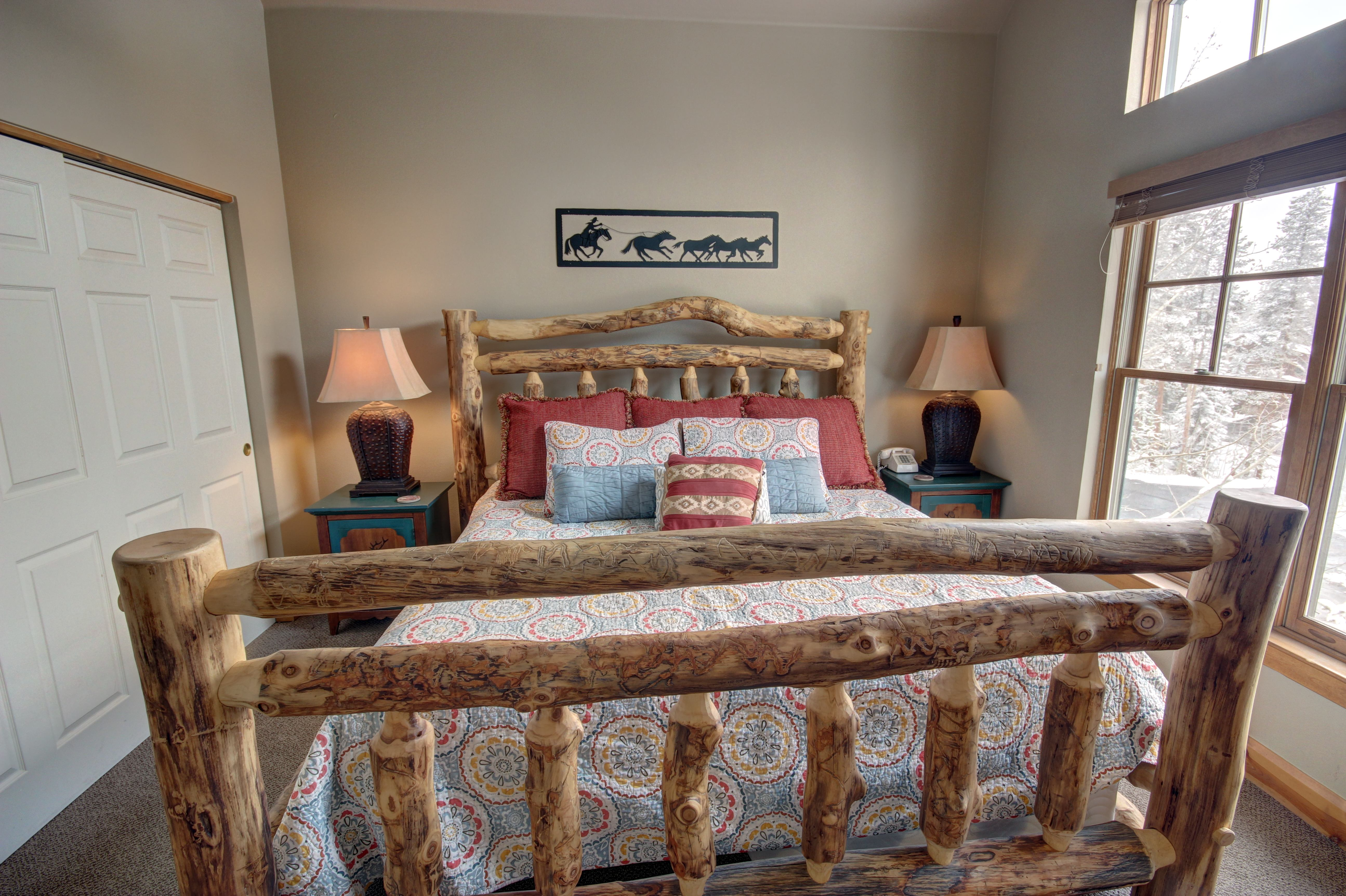 Bed with splashes of amazing color