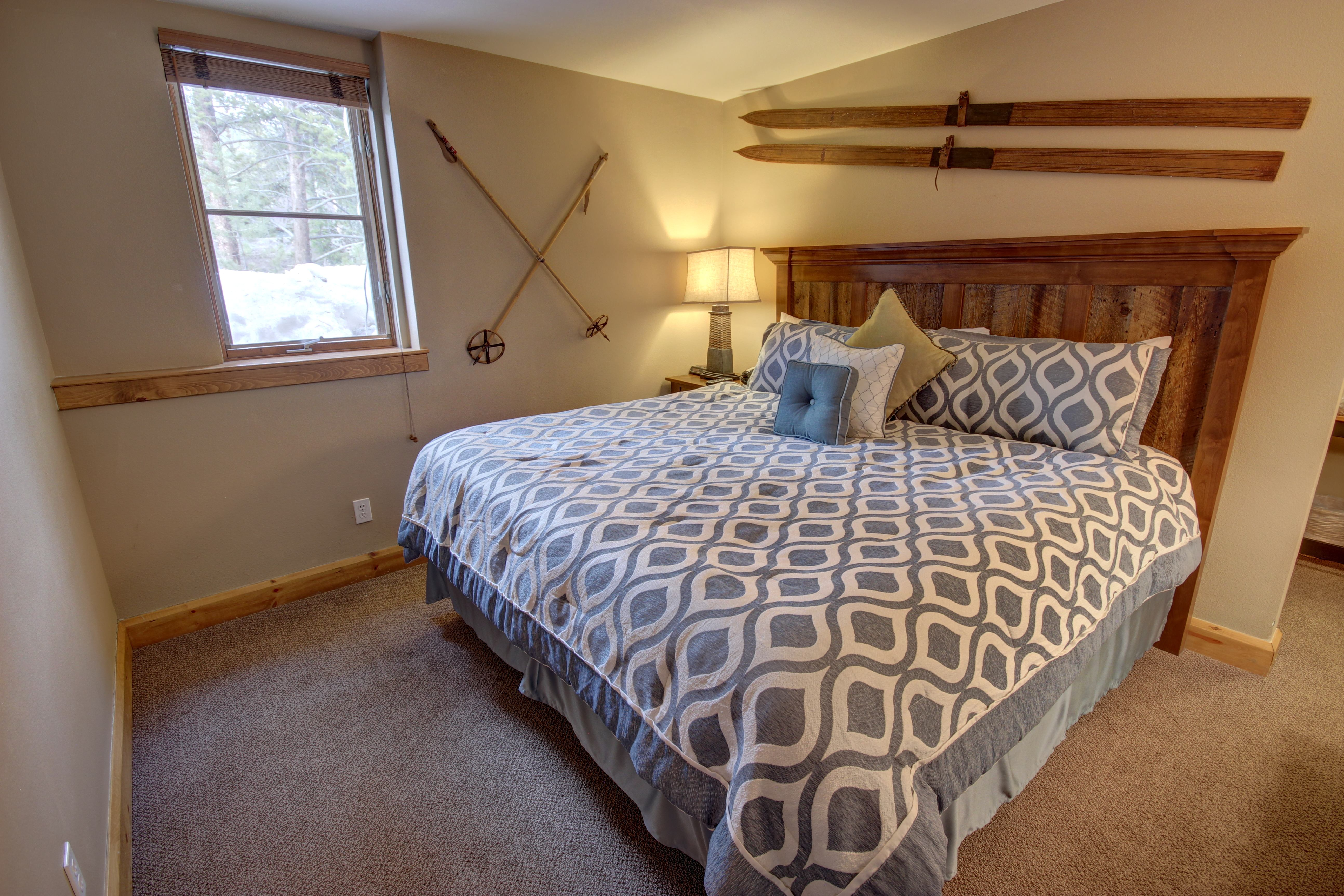 Bedroom with beautiful color and comfy bed