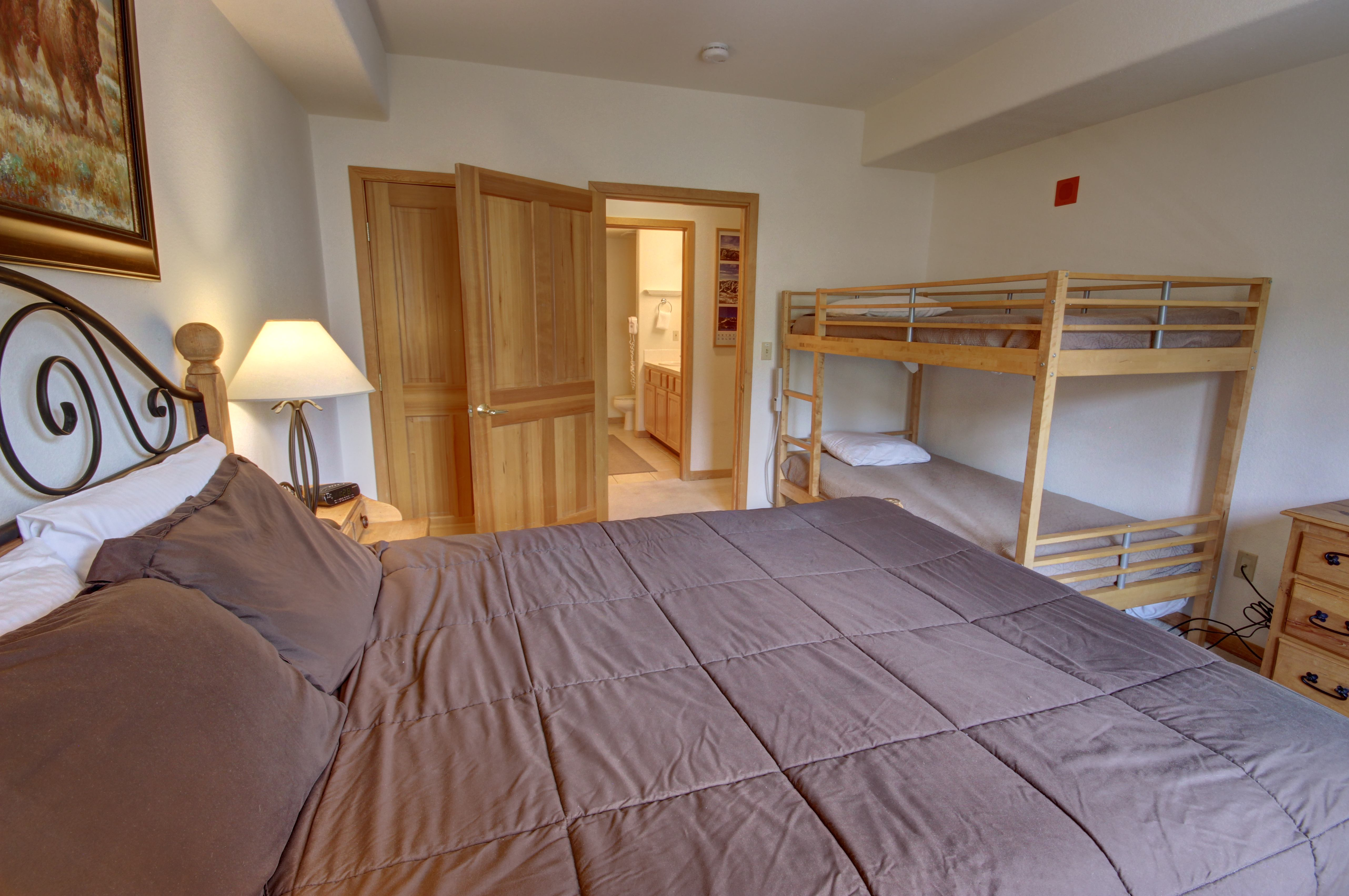 Bedroom with plenty of sleeping space for the kids or a couple