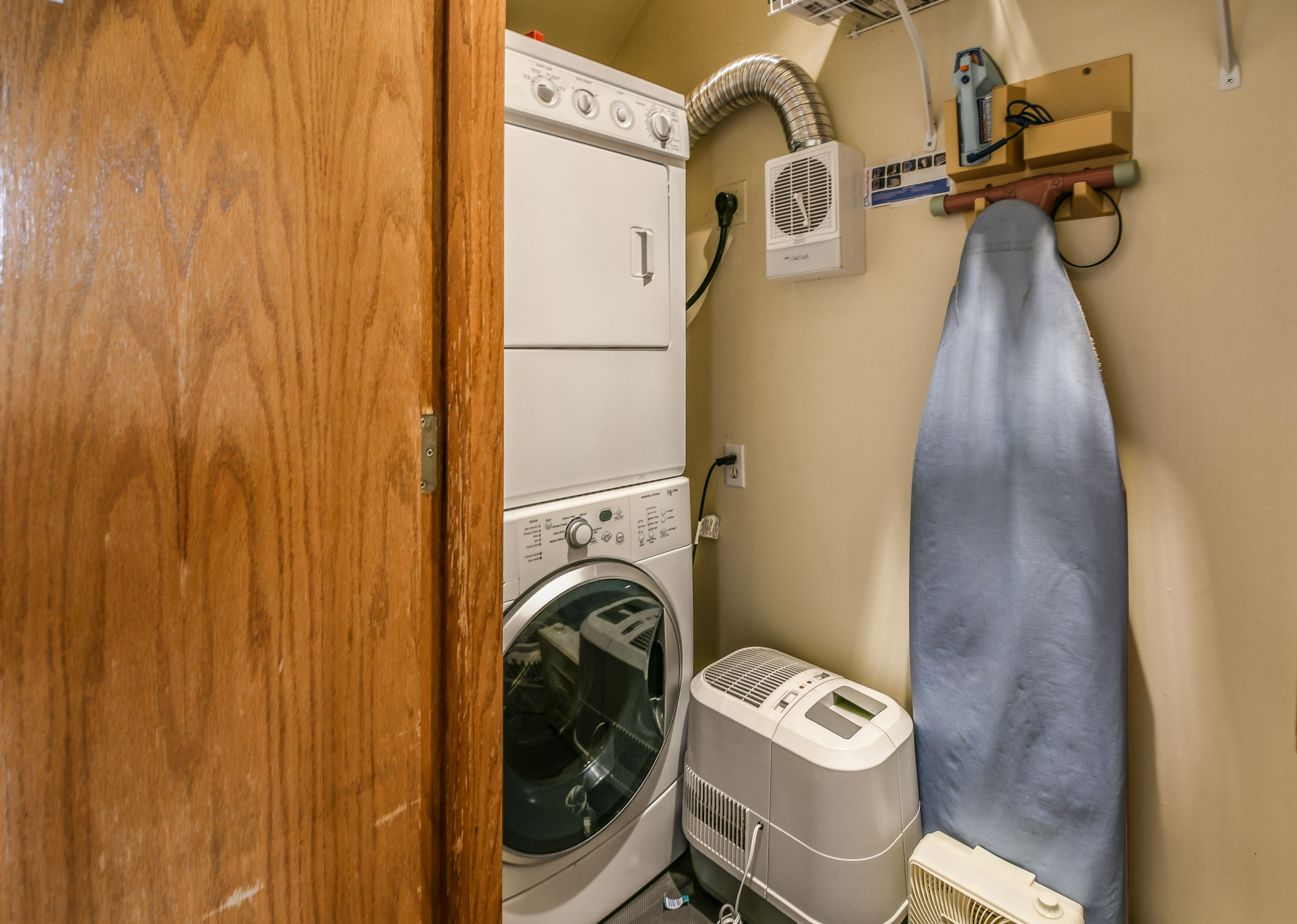 Room to wash clothes and store all needed things