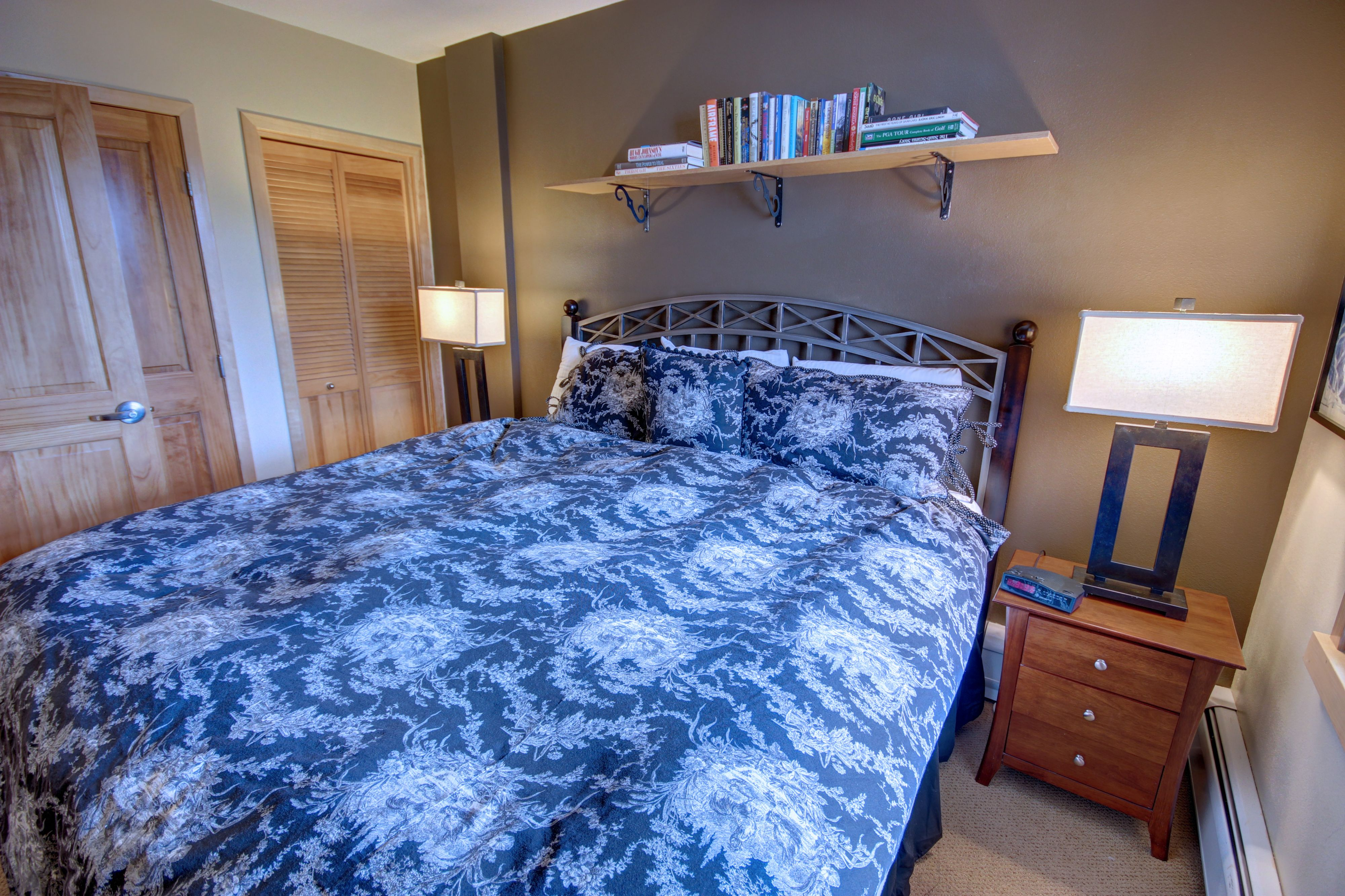 Bedroom with comfortable and relaxing bed