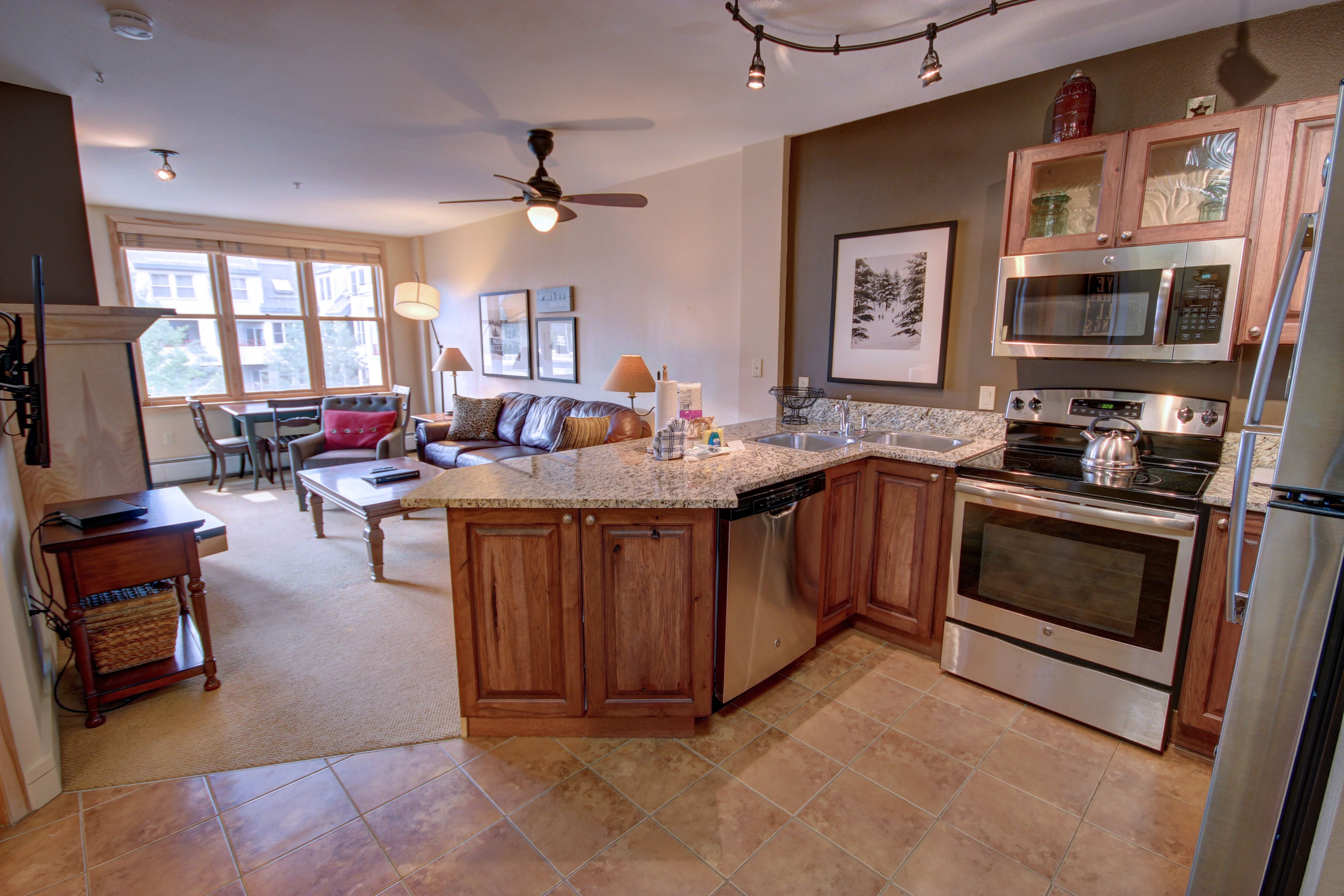 Kitchen with room to cook wonderful meals