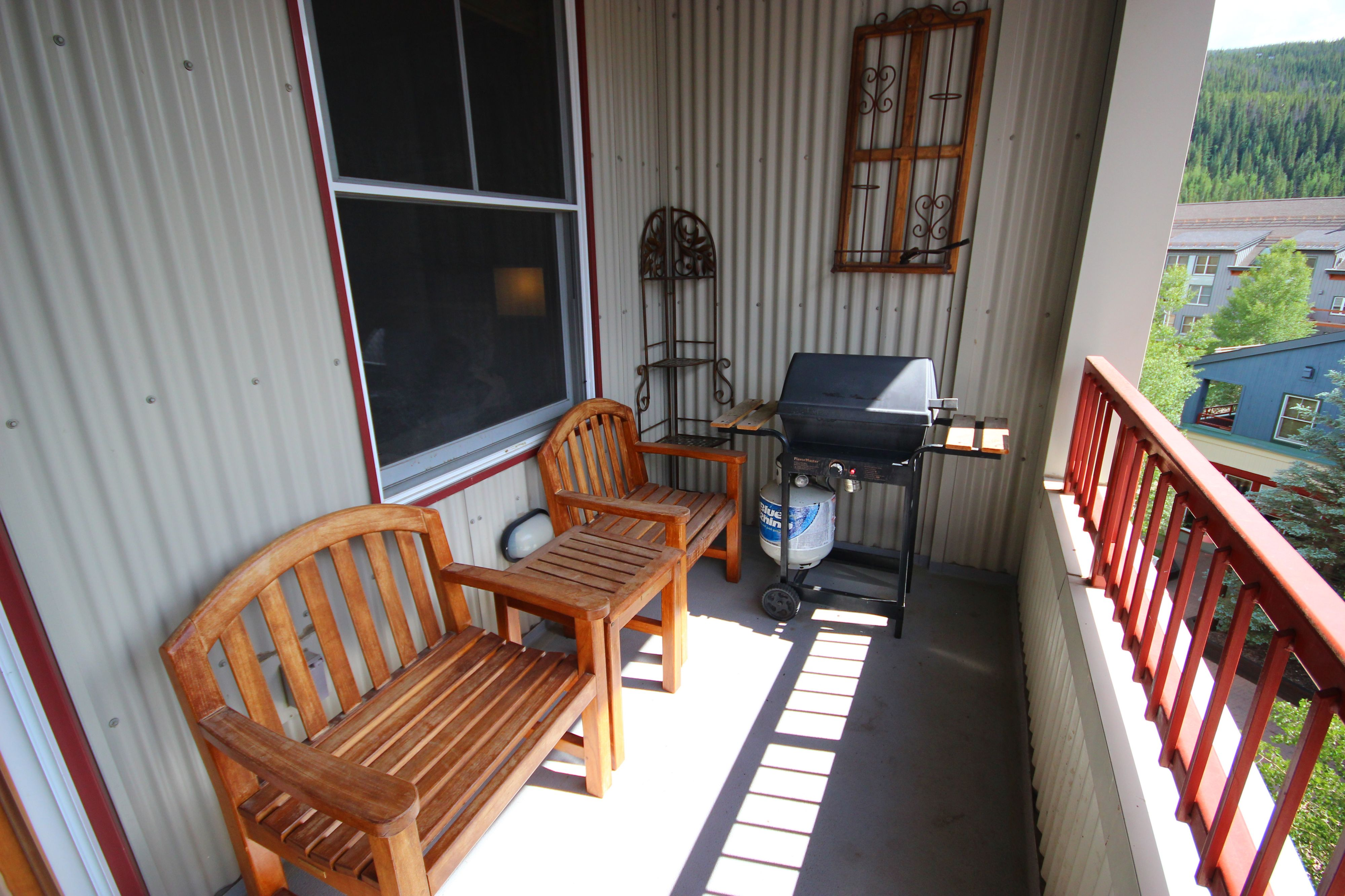 Porch with space to relax and enjoy the view