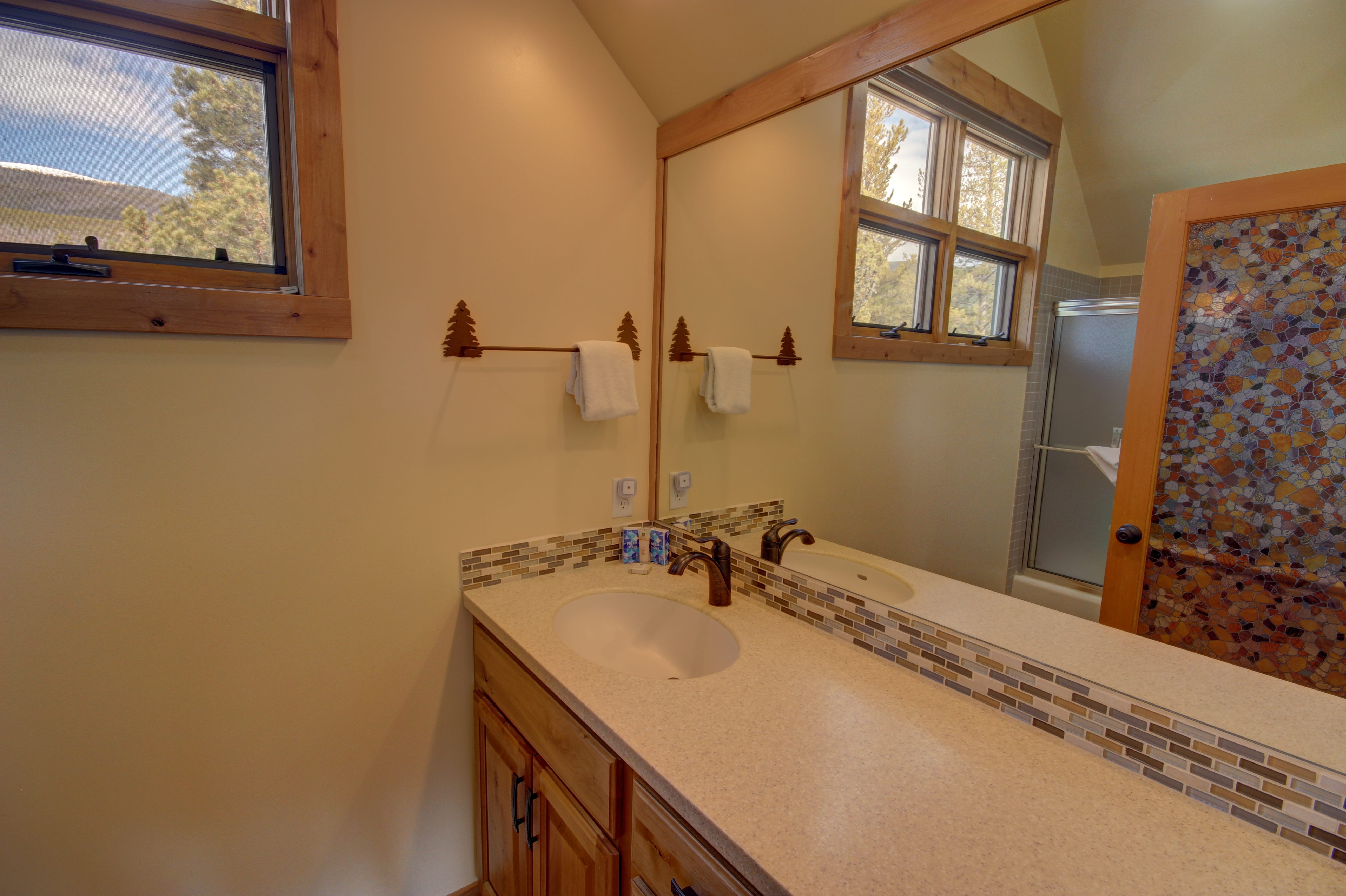 Bathroom with gorgeous countertops