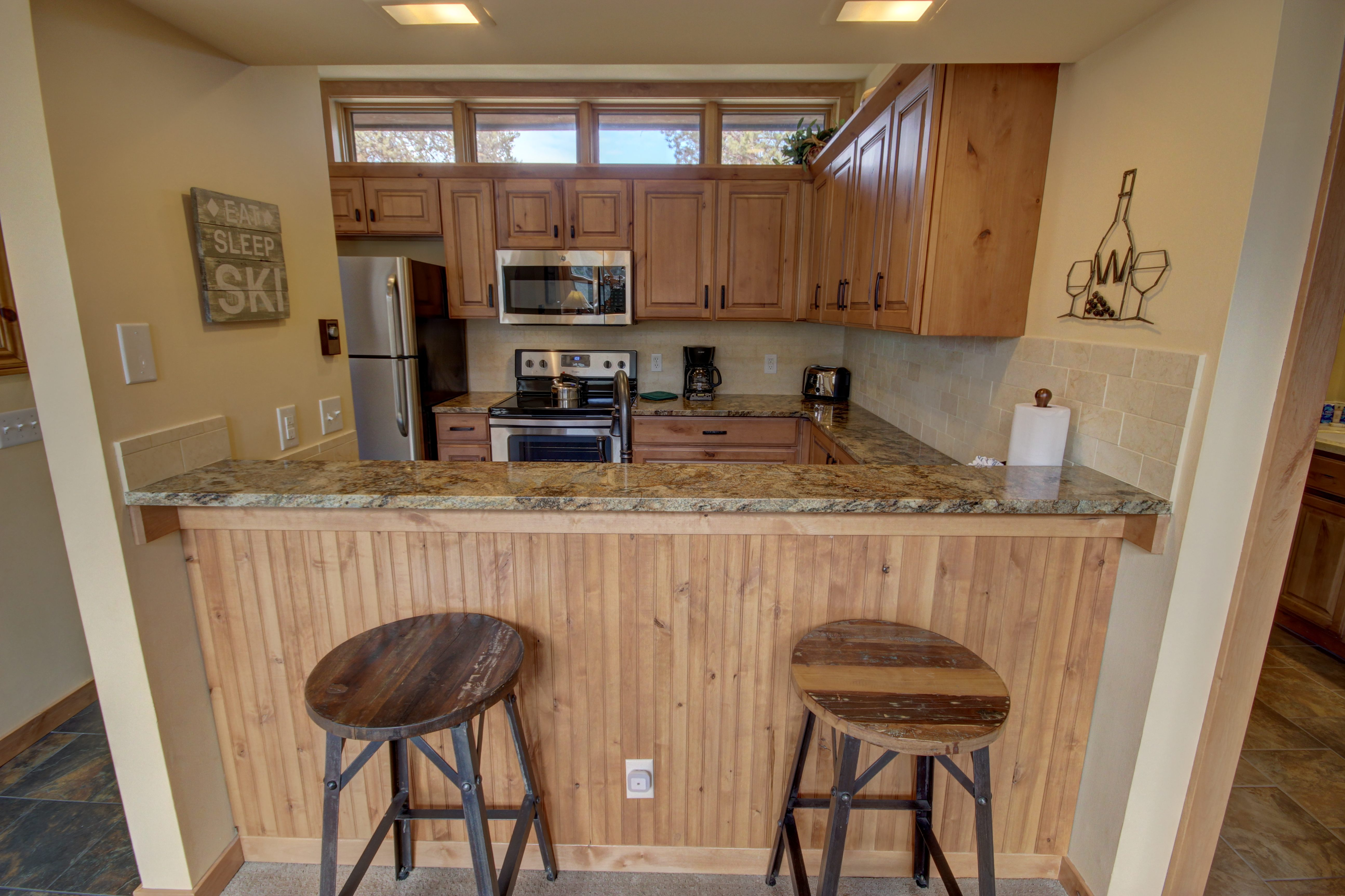 Kitchen with extra dining for more people