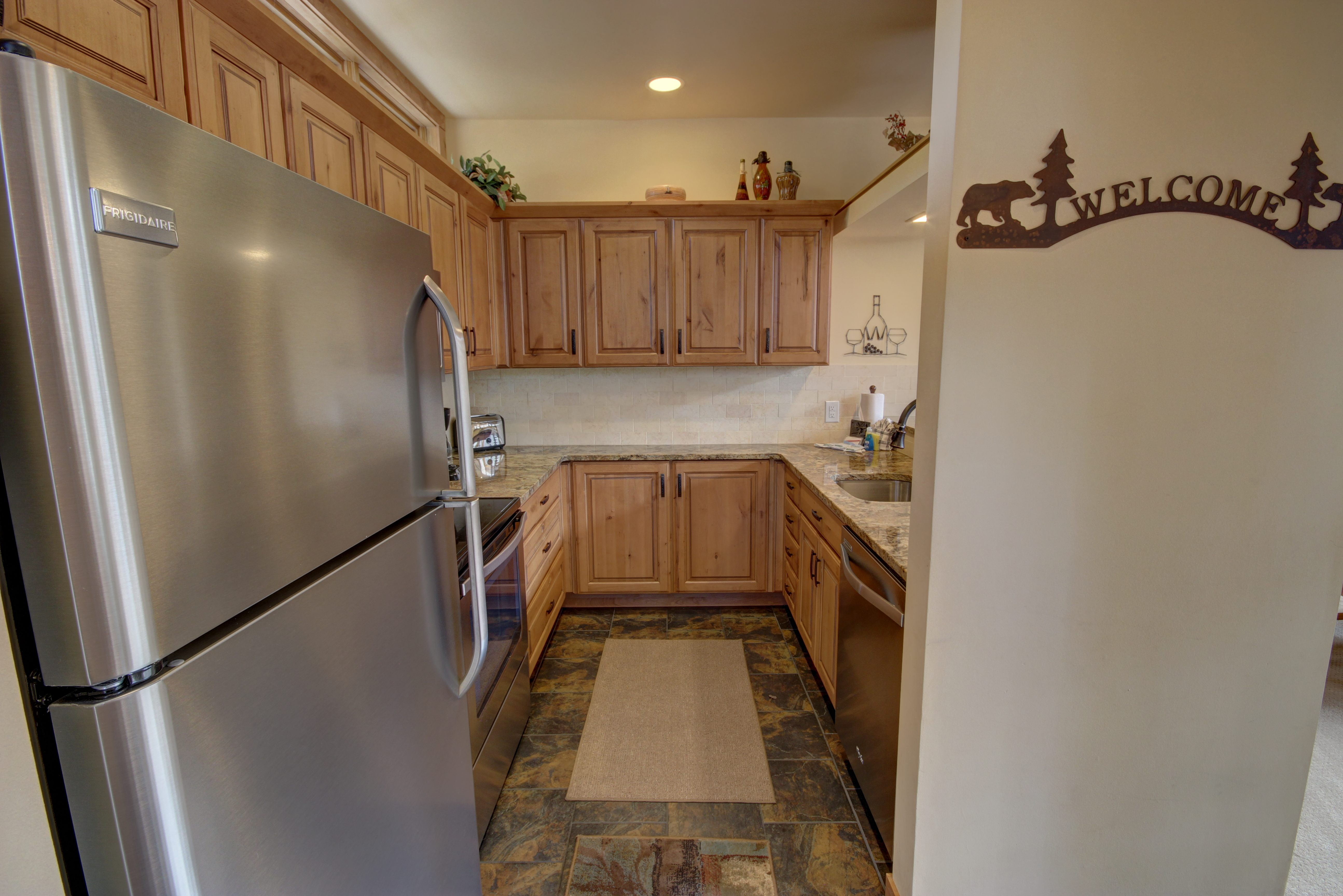 Kitchen with room to cook and store appliances