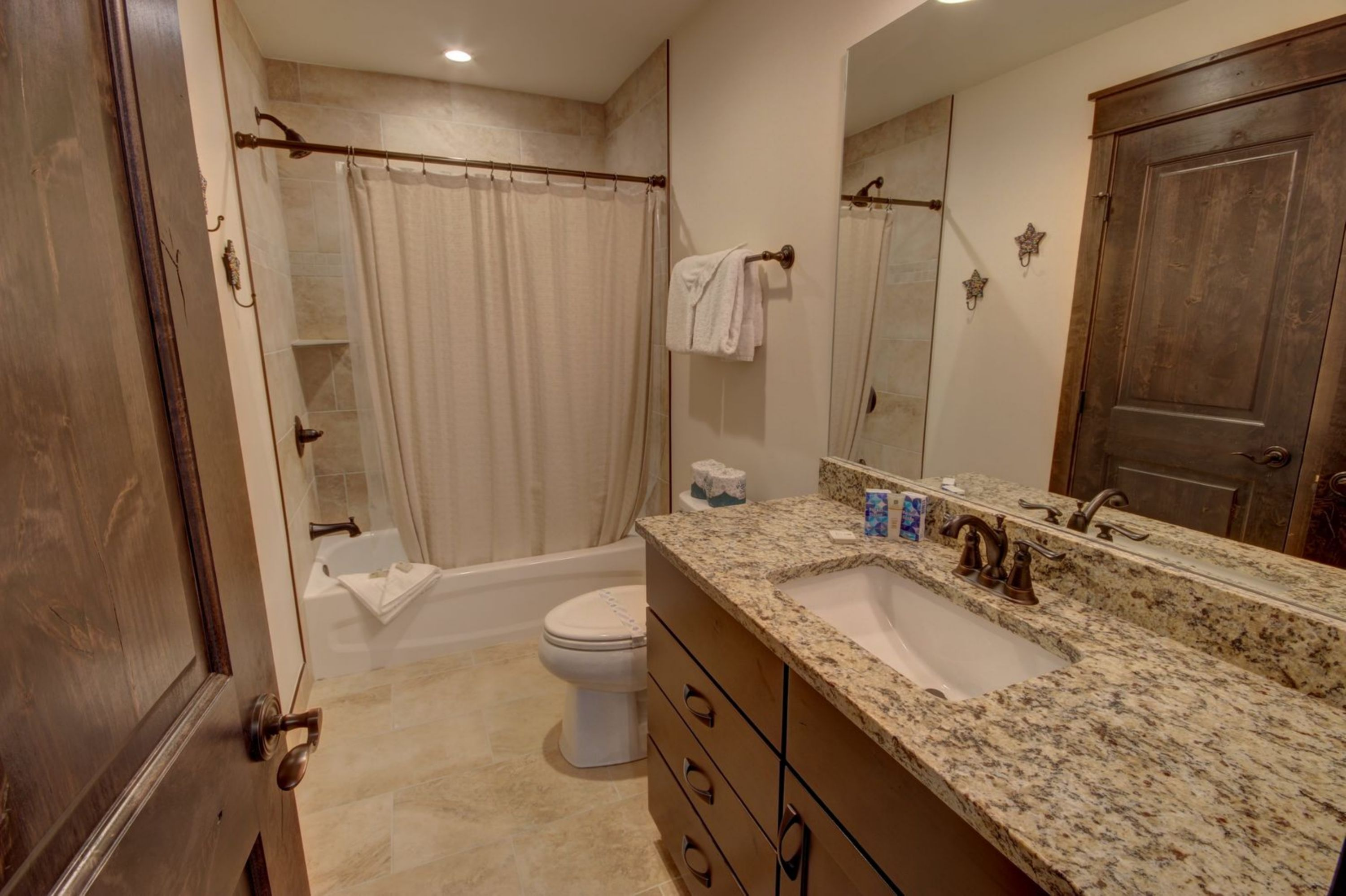 Bathroom with relaxing shower
