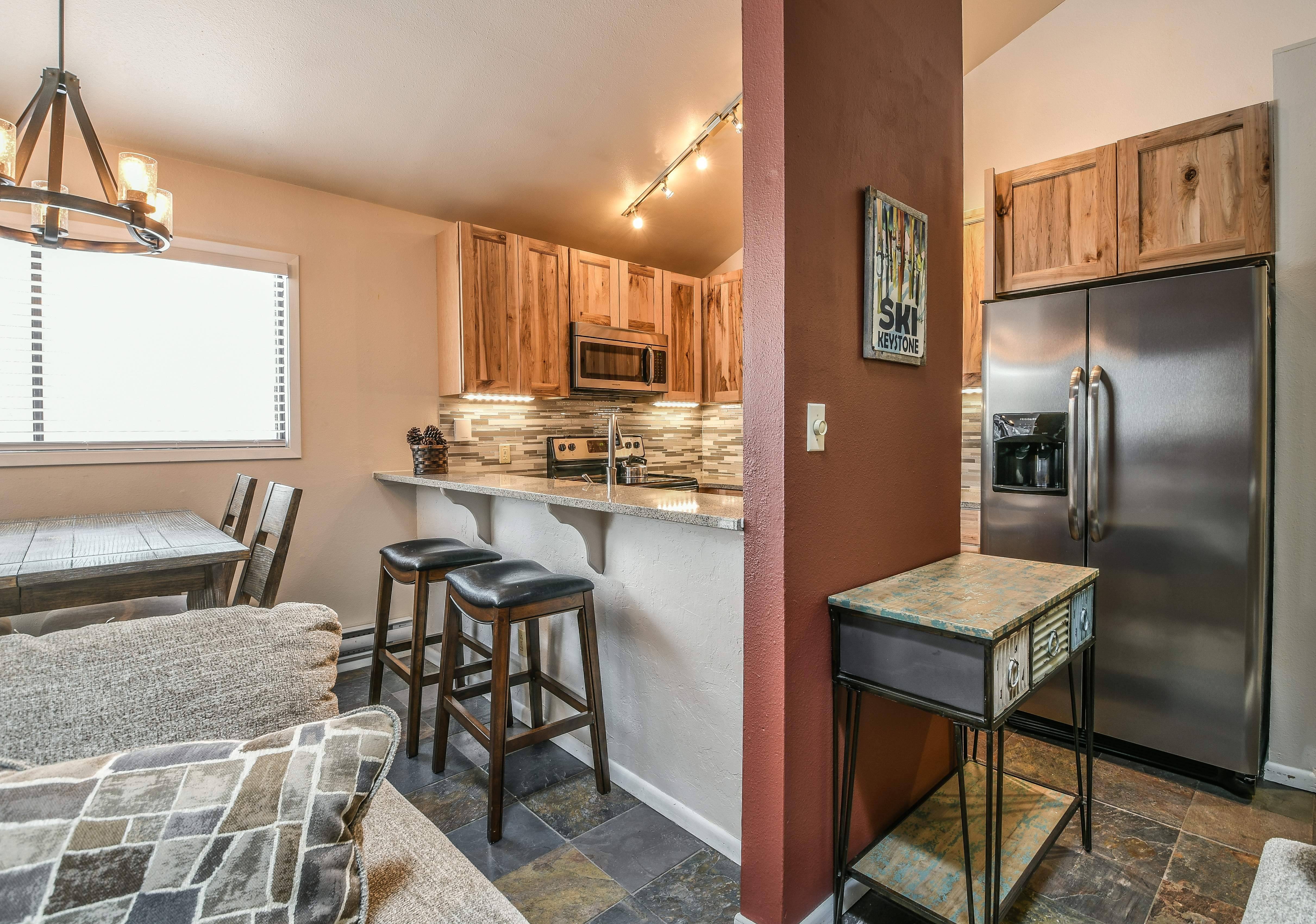 Kitchen with extra dining room to enjoy your day