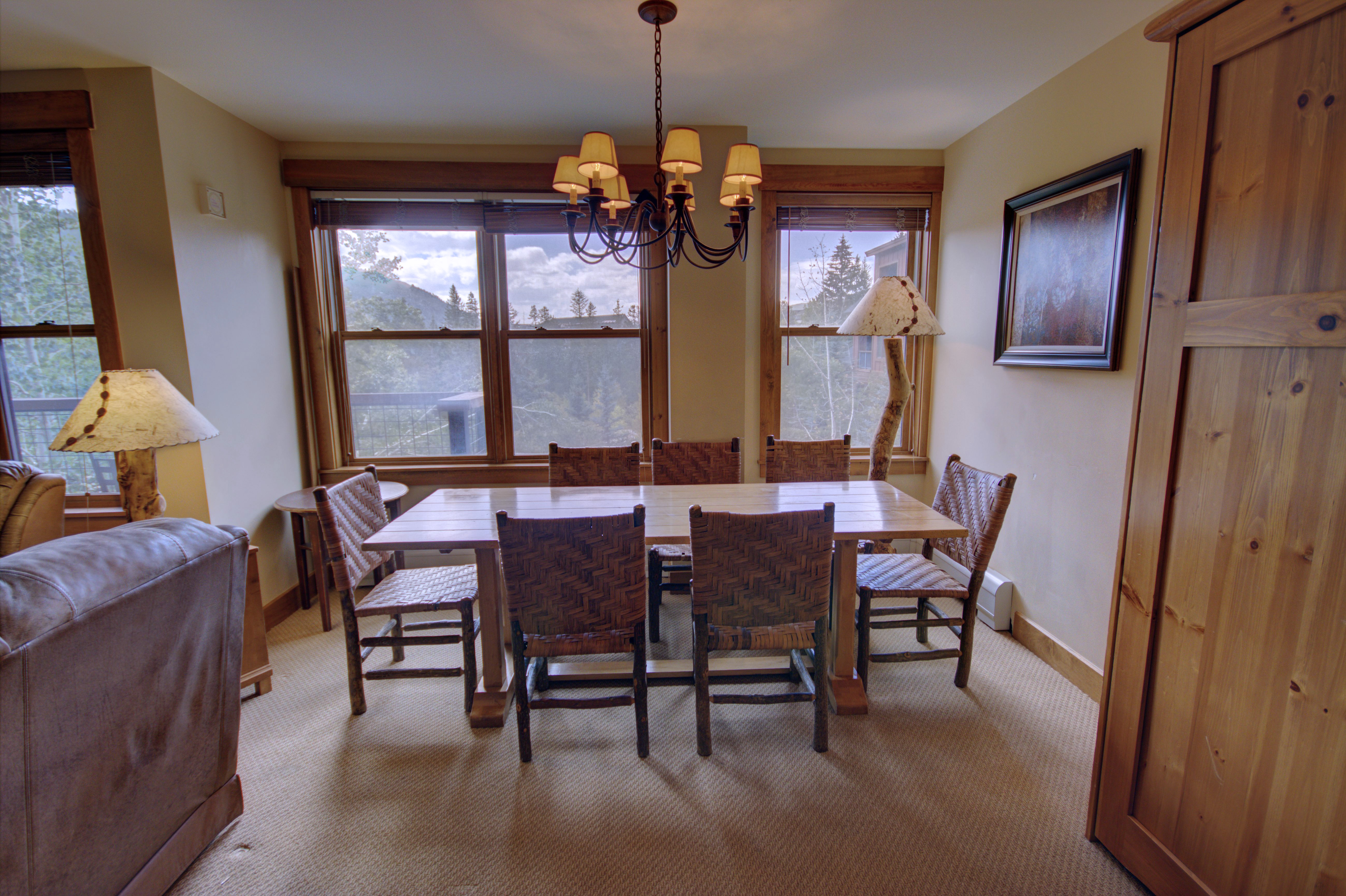 The dining table is a great place to have a family meal