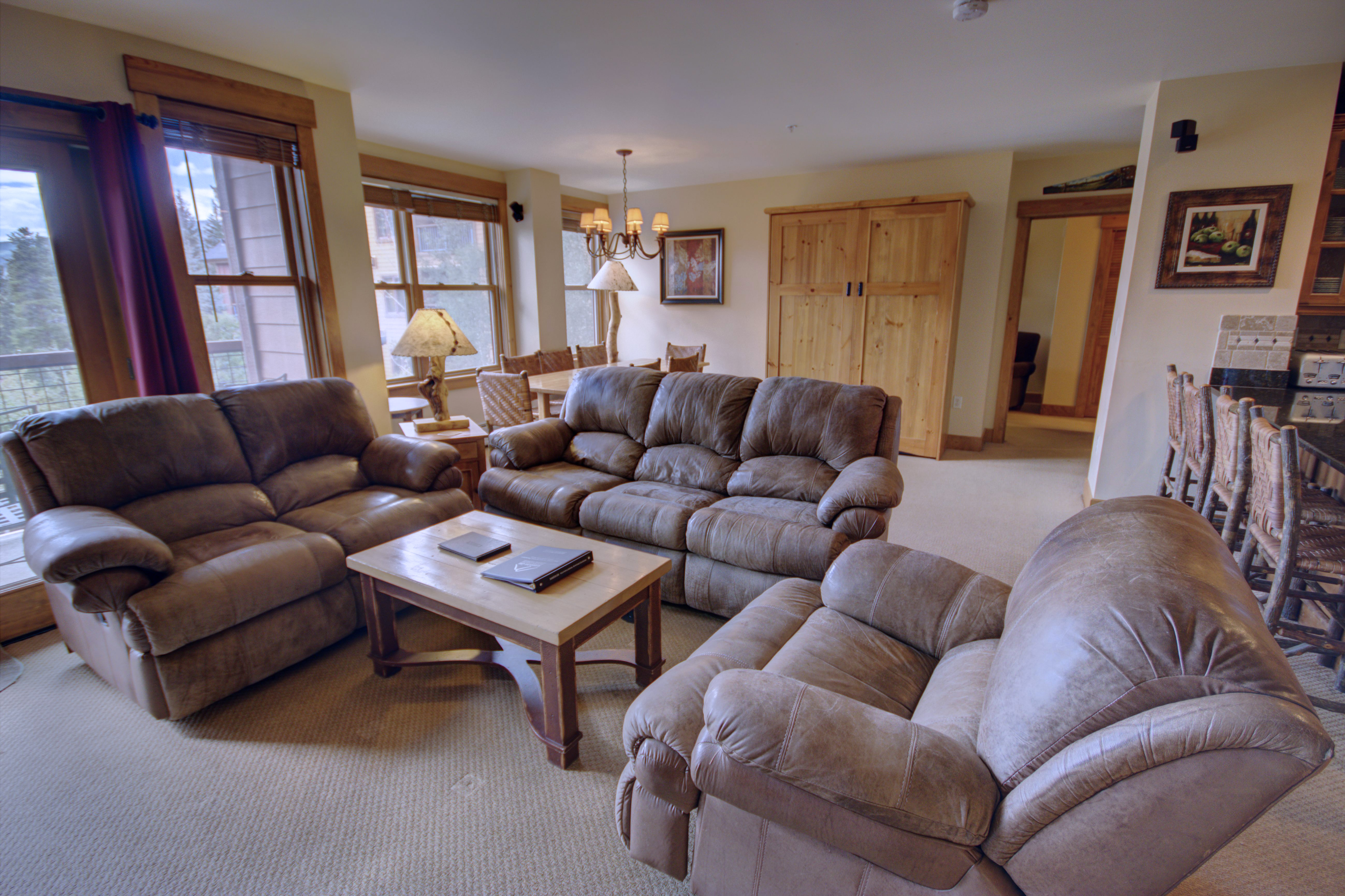 The living room perfect for entertaining family and guest