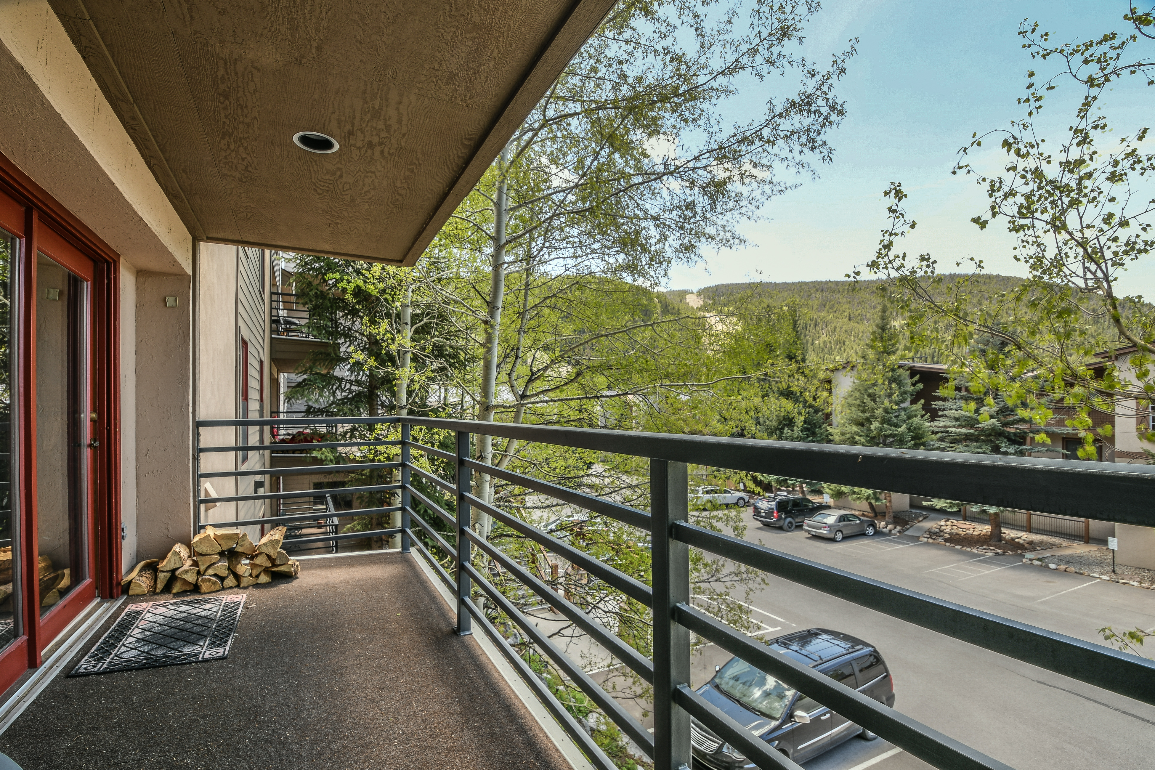 Enjoy the mountain views from your balcony