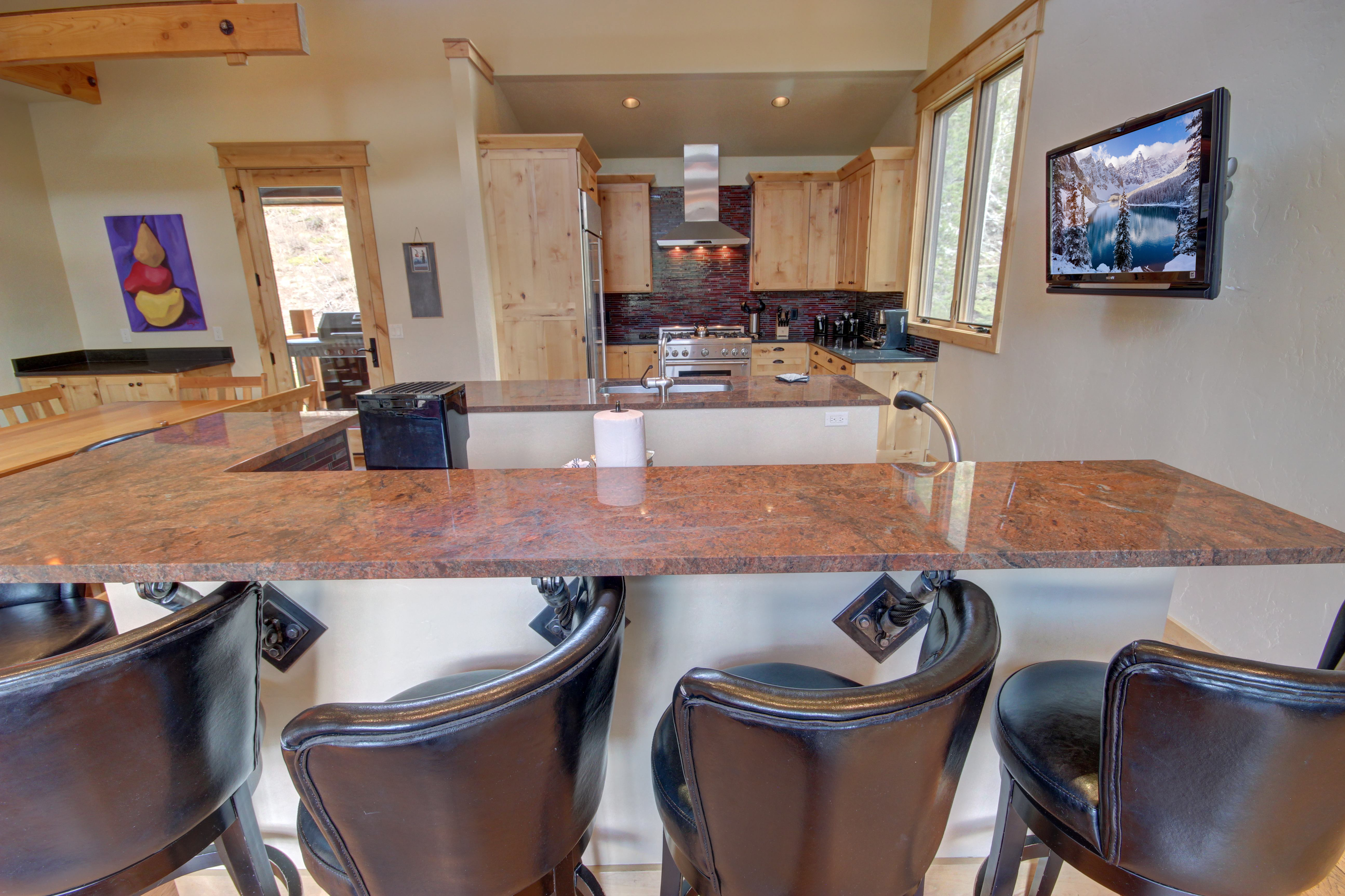 Kitchen with extra dining