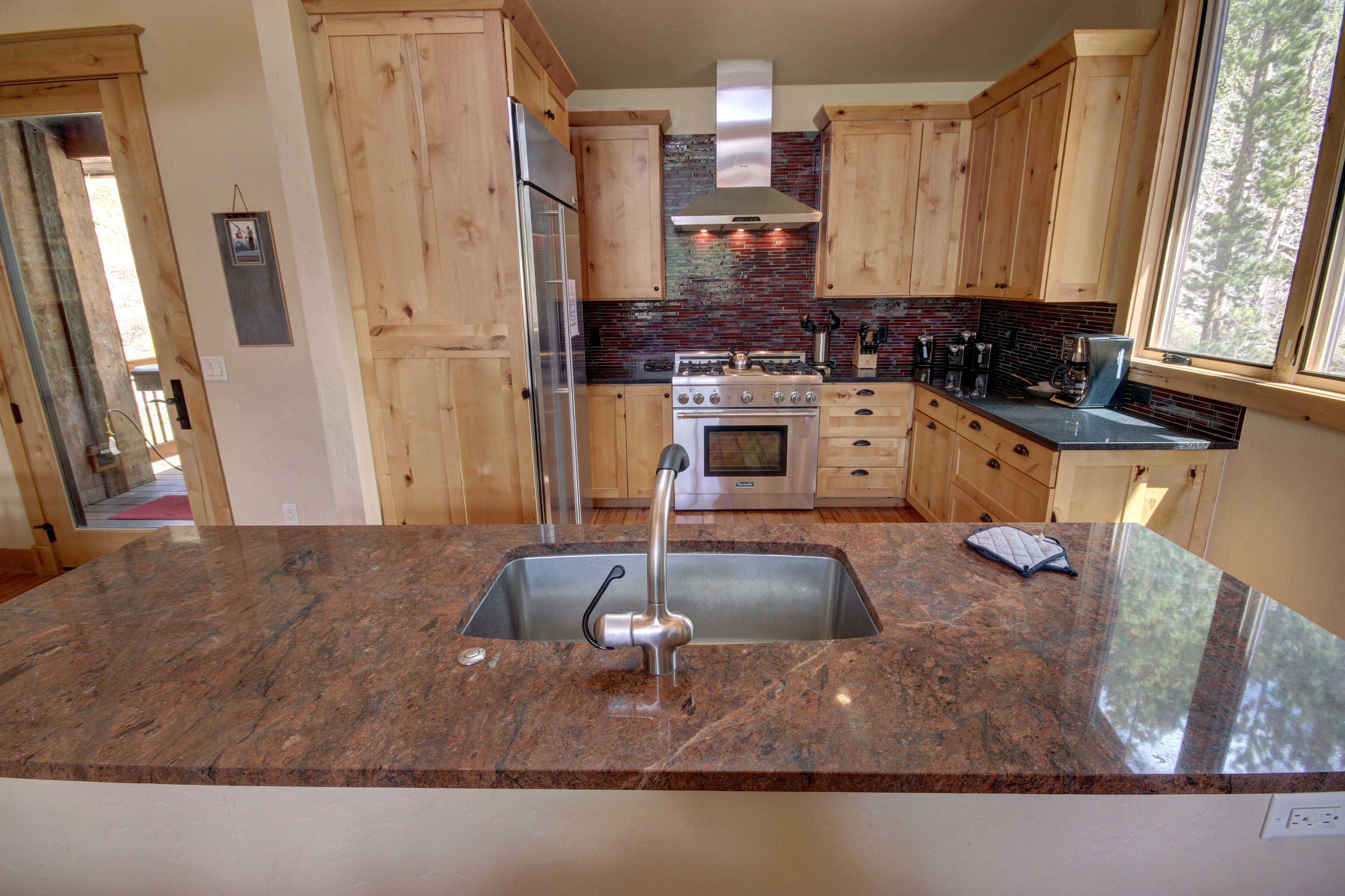 Kitchen with gorgeous countertops
