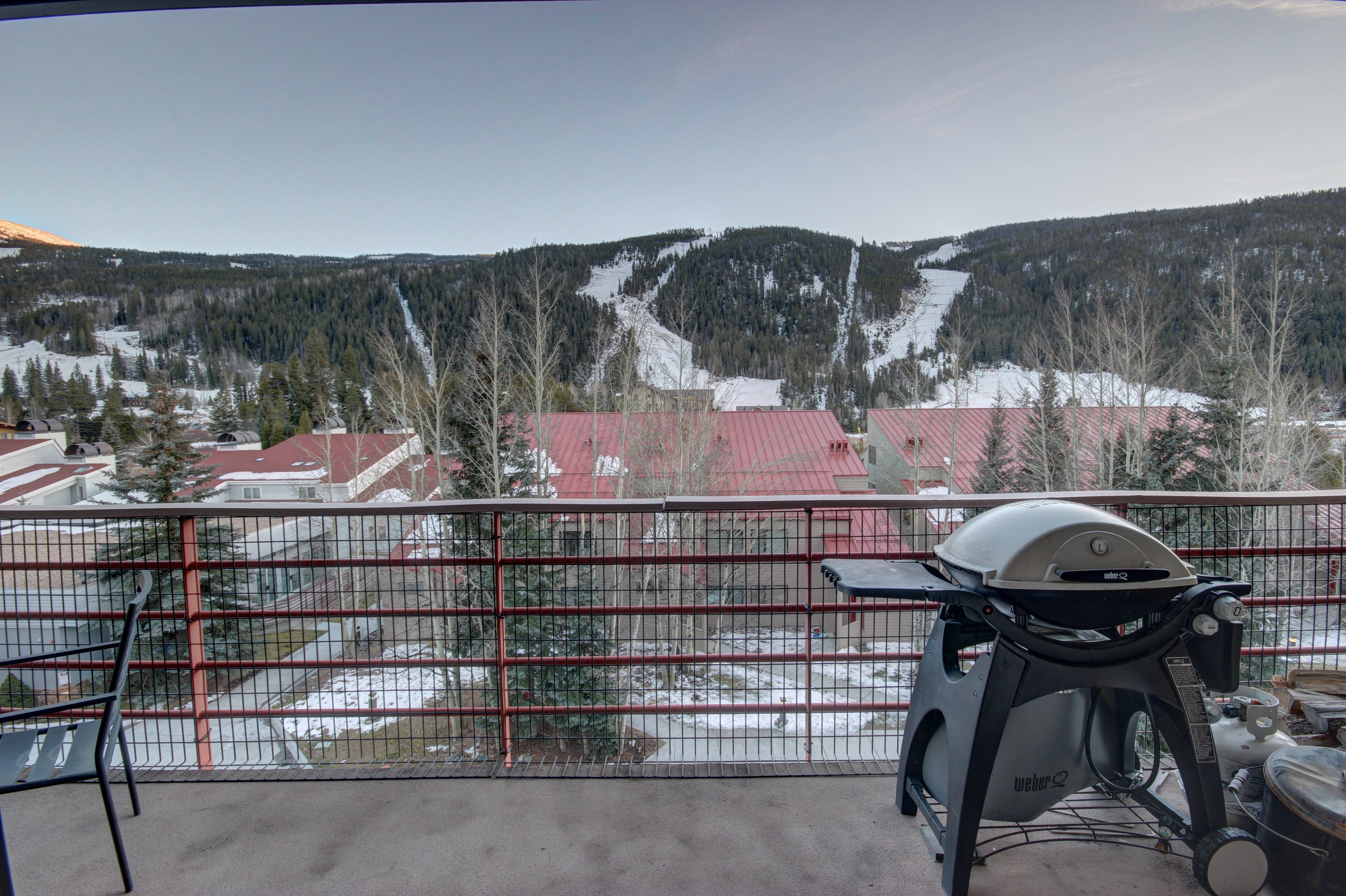 Host a BBQ while enjoying the spectacular mountain view