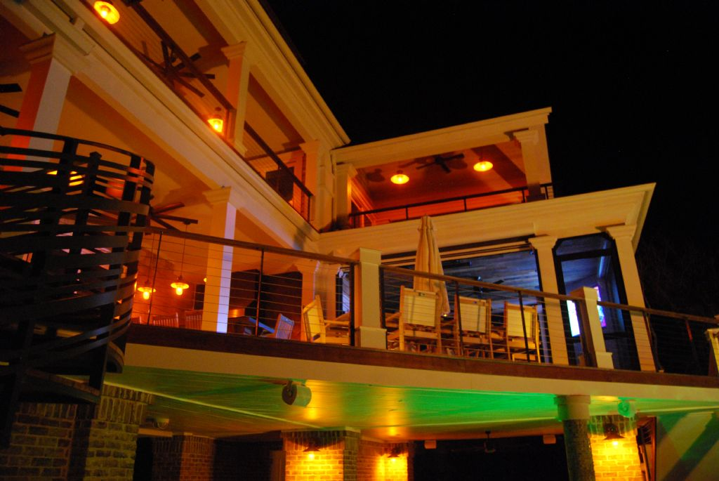 Exterior Decks at Night