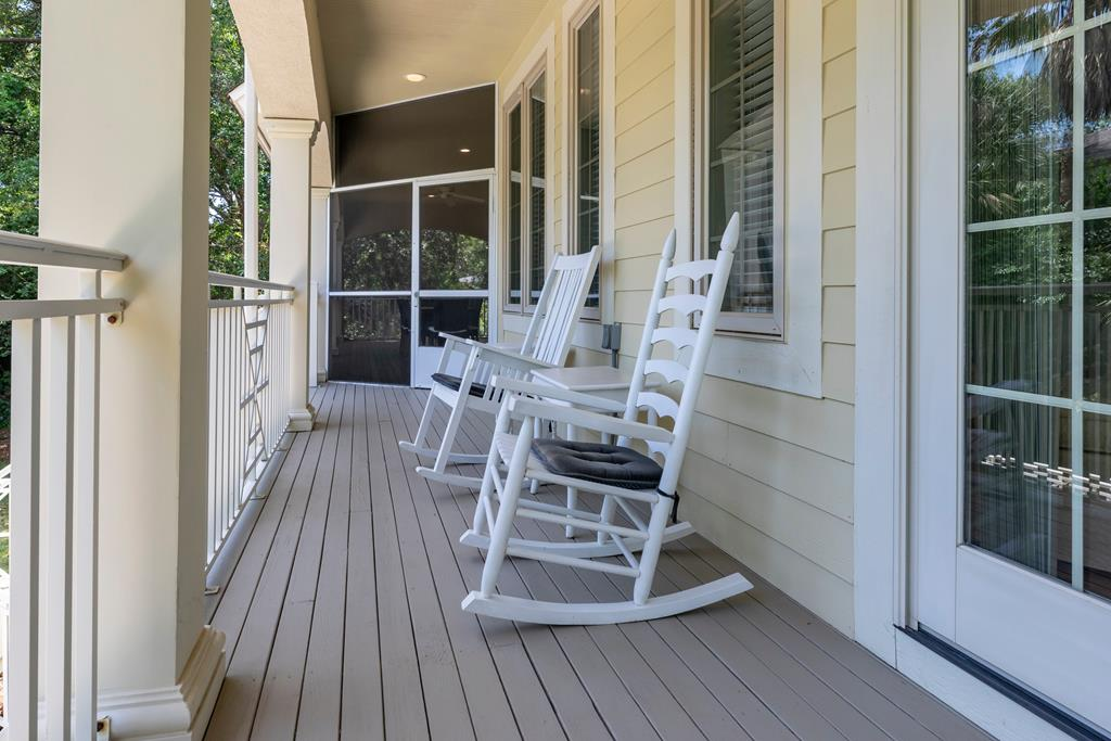 Master balcony with rocking chairs
