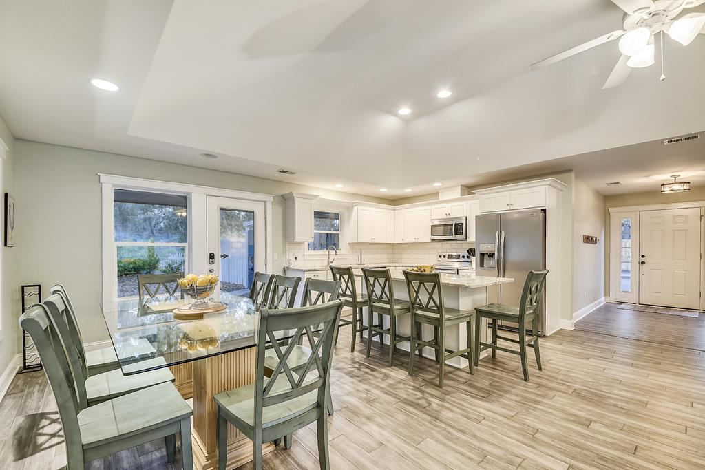 Open Format Kitchen and Dining Space
