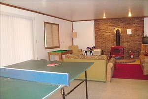 Game Room with Ping Pong table & Game Closet