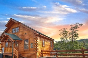 Views of God's Country Pigeon Forge Tennessee Timber Tops Luxury Cabin Rentals