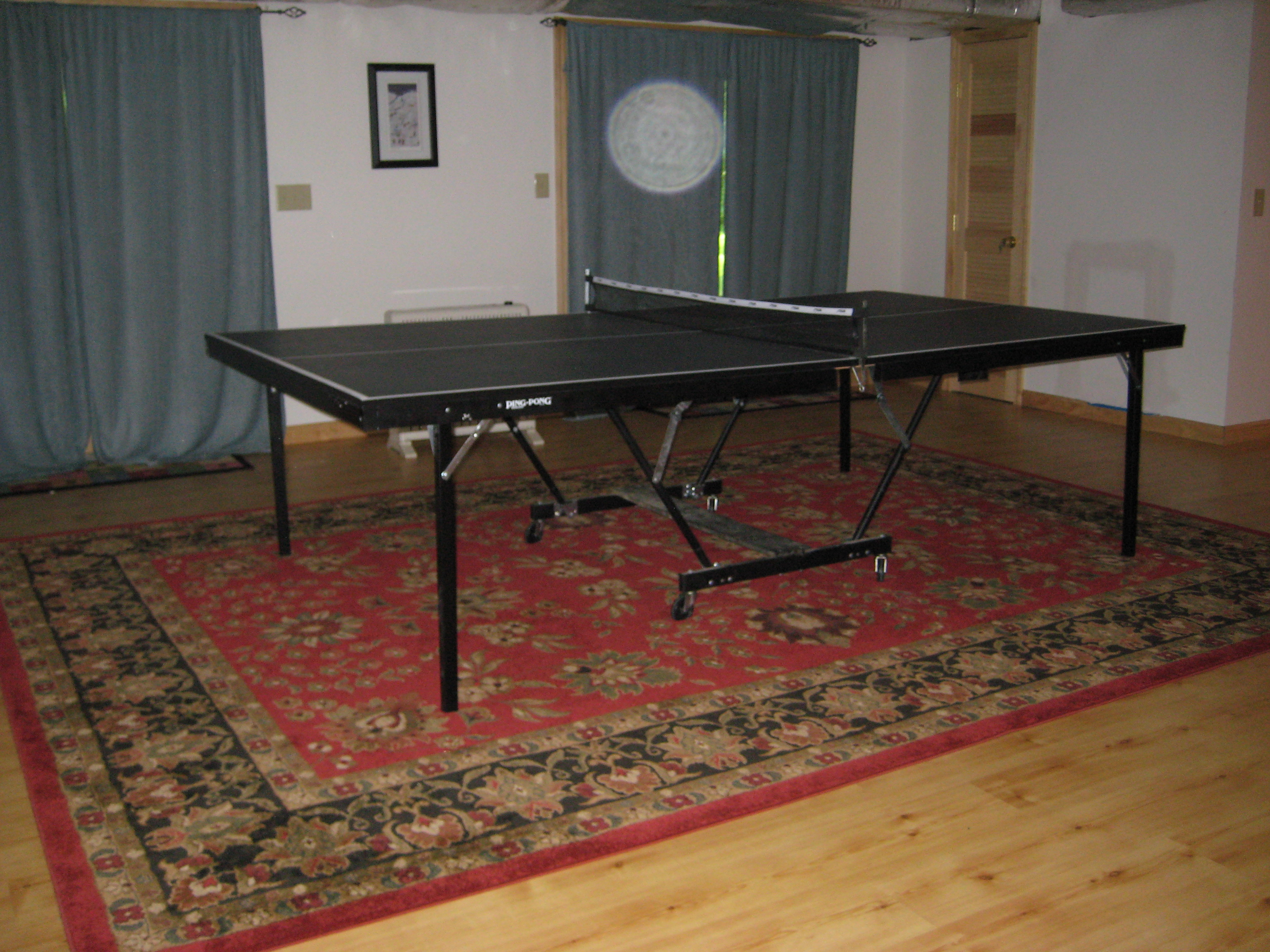 LOWER LEVEL PIING PONG TABLE