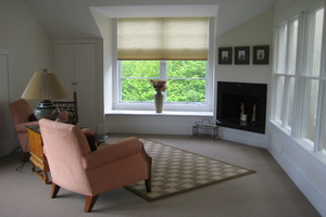 MASTER BEDROOM SETTING AREA W/GAS FIREPLACE